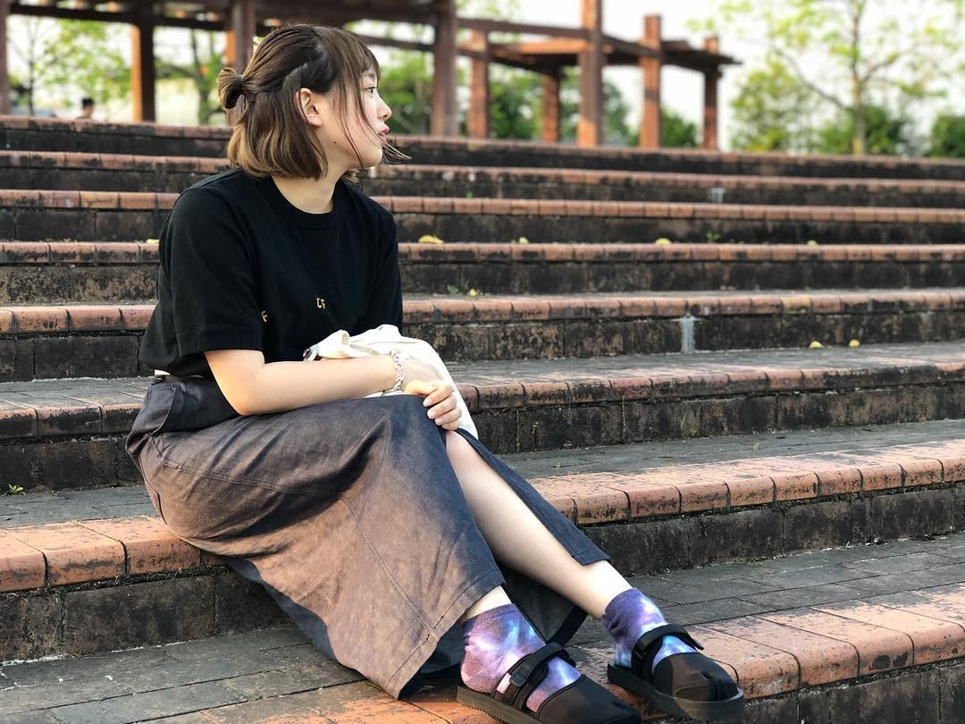 もちろんファッション全体を統一するのもアリ! pipi_yukapi