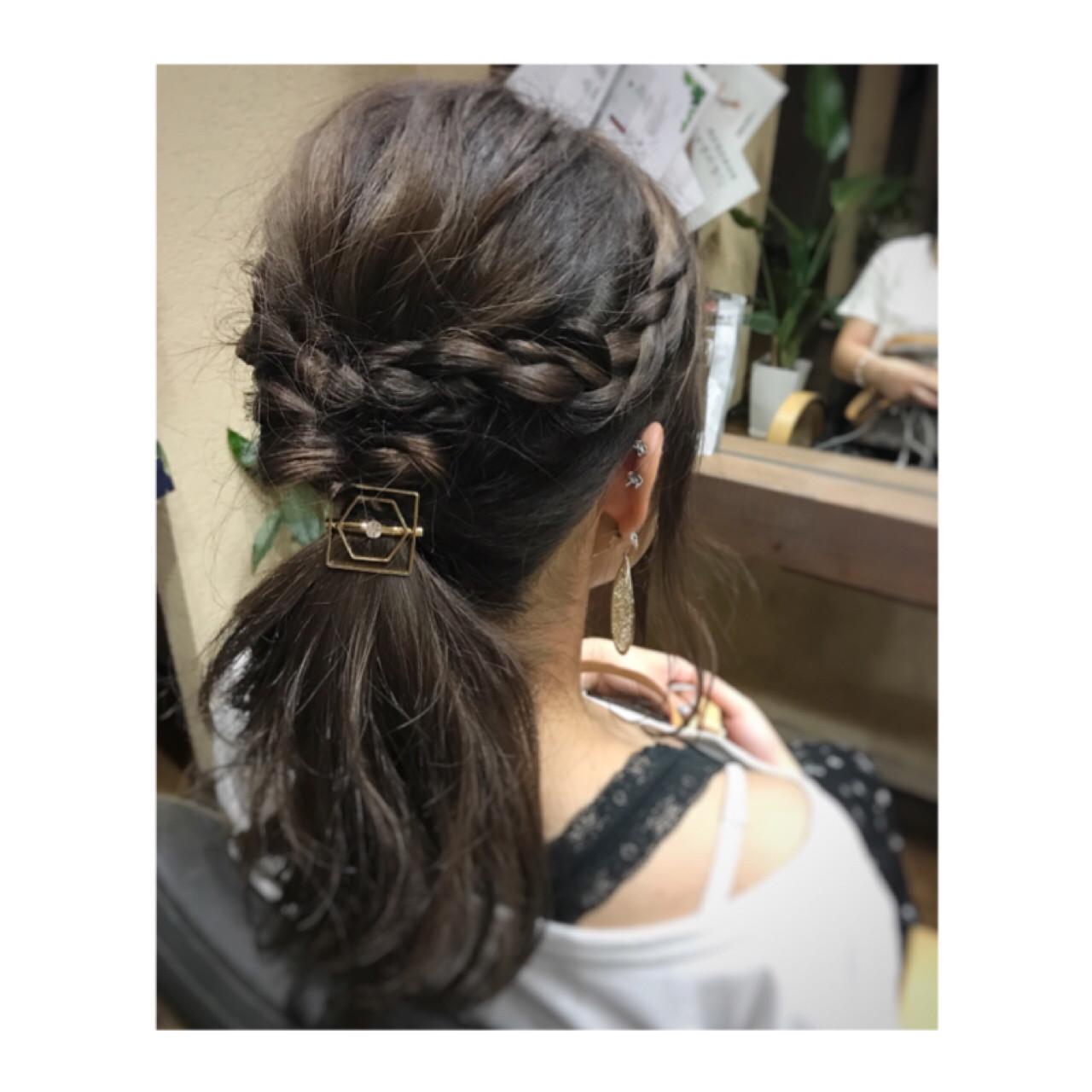 ロング くるりんぱ デート ナチュラル ヘアスタイルや髪型の写真・画像