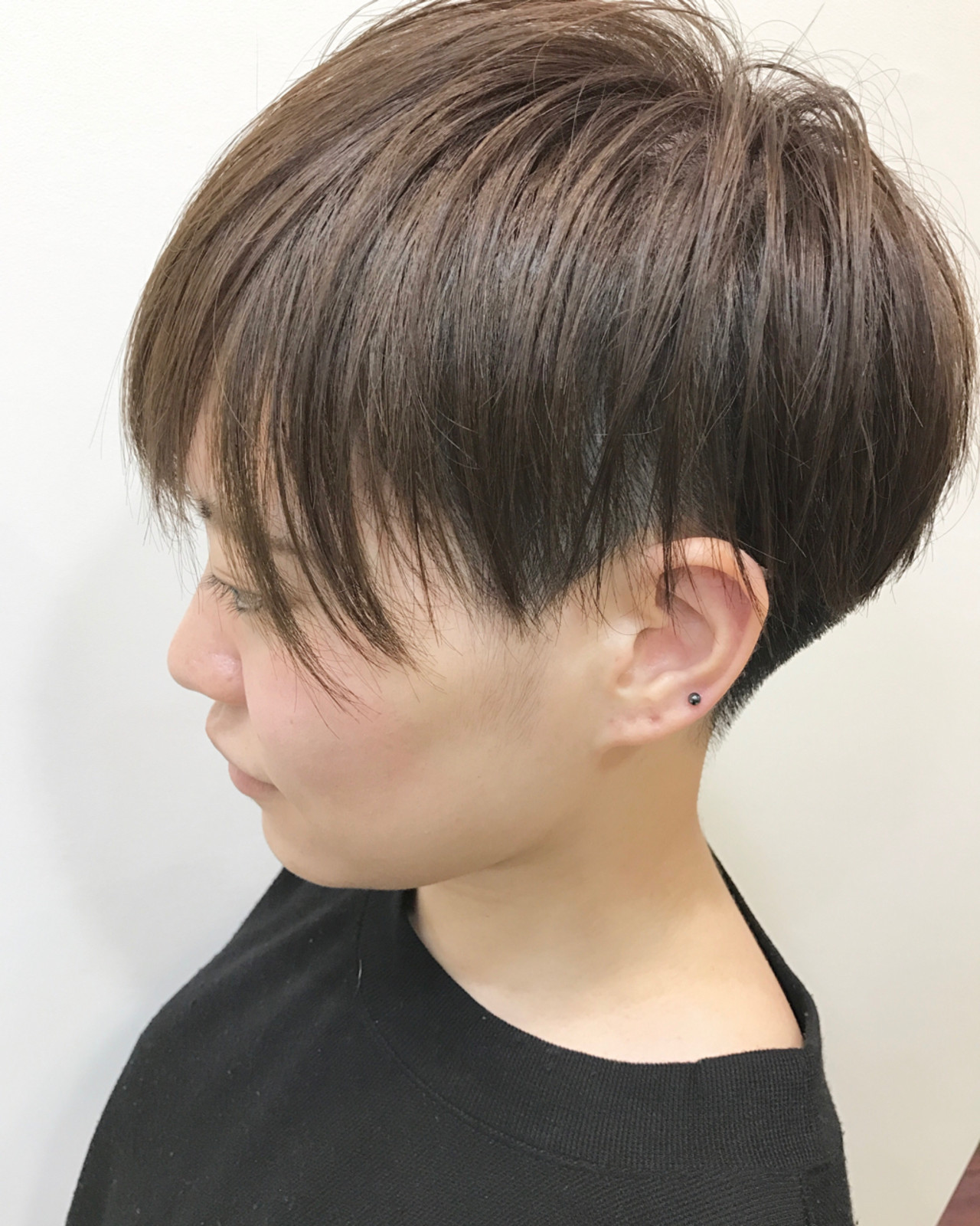 ショートボブ 女子会 ベリーショート ナチュラル ヘアスタイルや髪型の写真・画像
