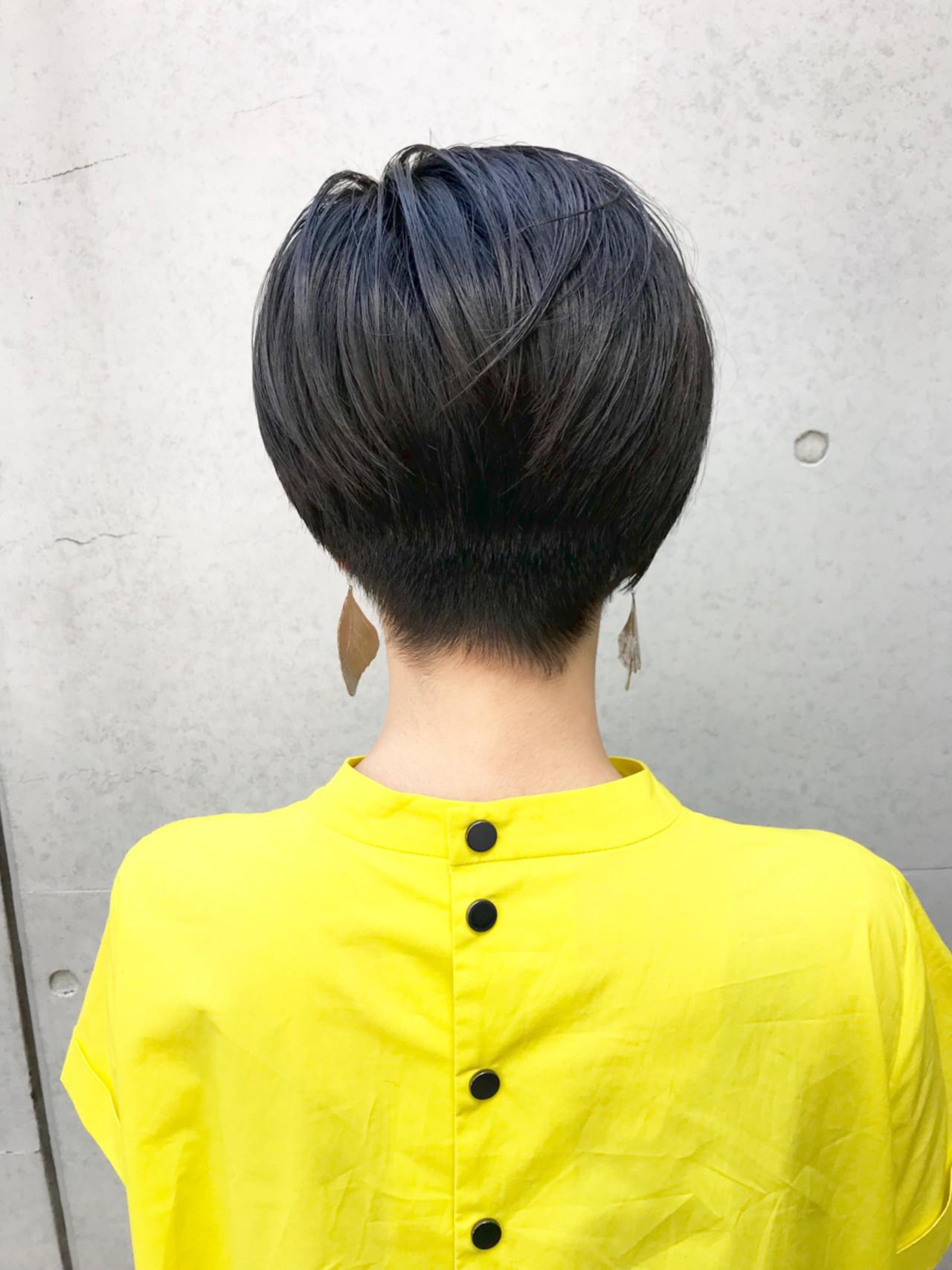 ショート 前髪あり 抜け感 ショートボブ ヘアスタイルや髪型の写真・画像