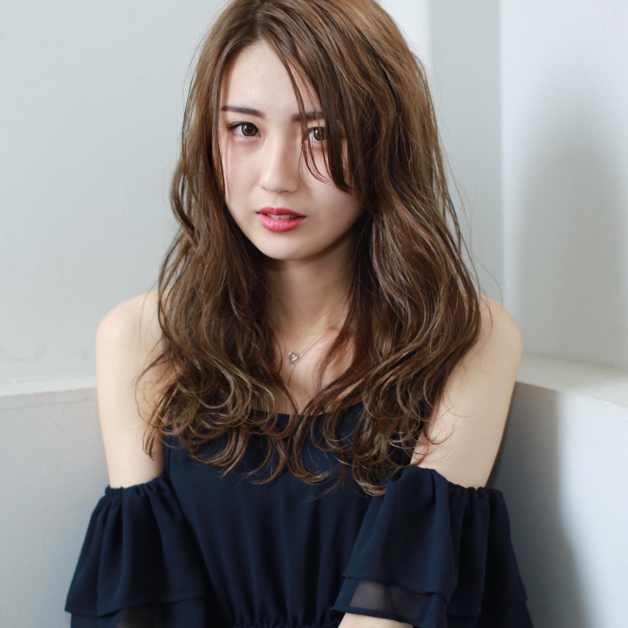 前髪あり パーマ 外国人風カラー 抜け感 ヘアスタイルや髪型の写真・画像