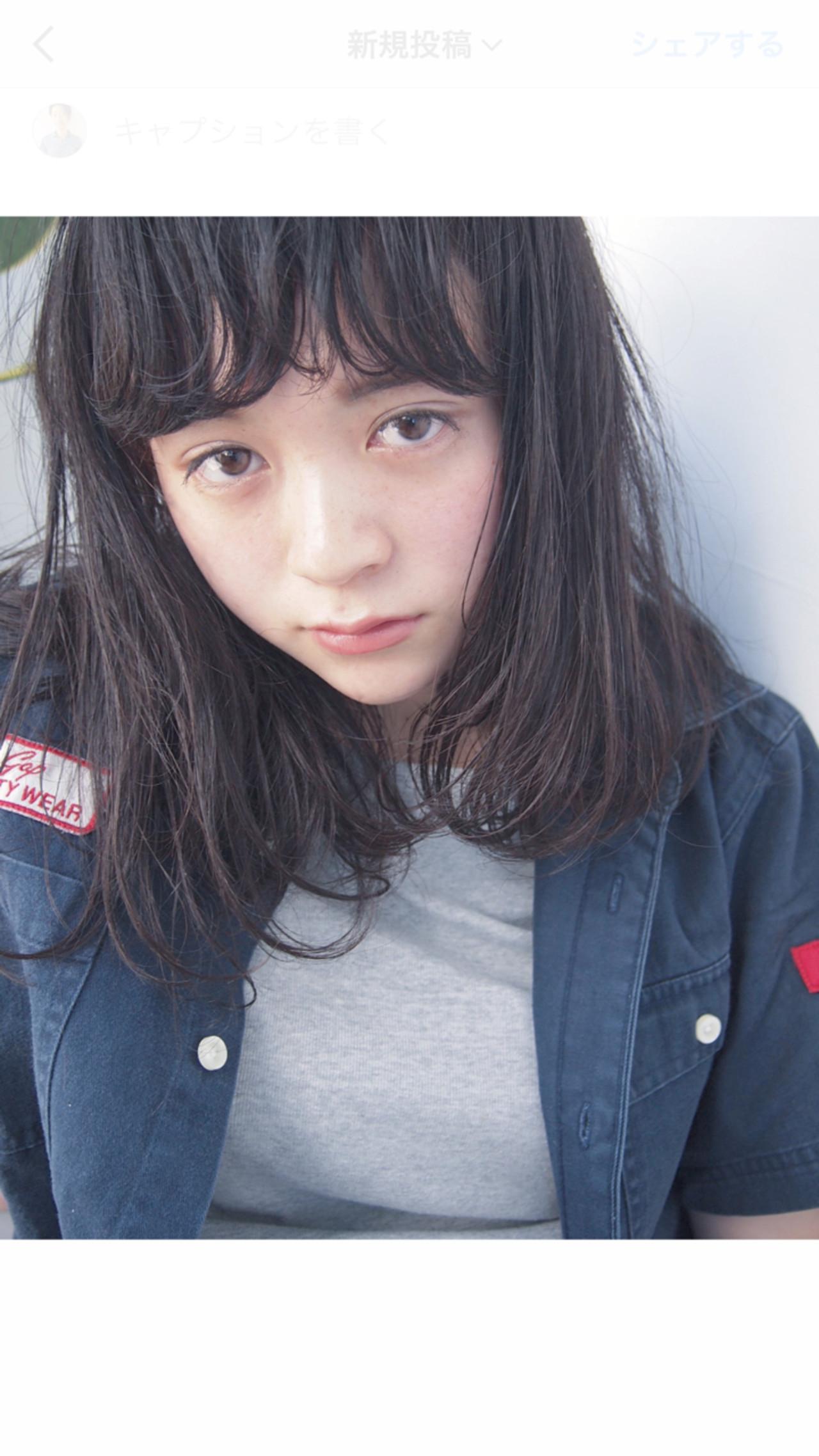 ガーリーなくせ毛風毛先パーマ UEKI/nanuk