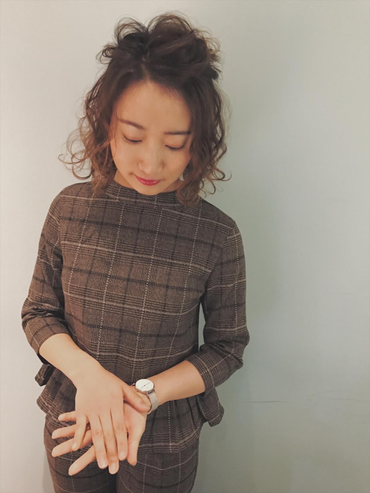キメらない前髪はすっきりと☆ボブアレンジ 堀川 千枝