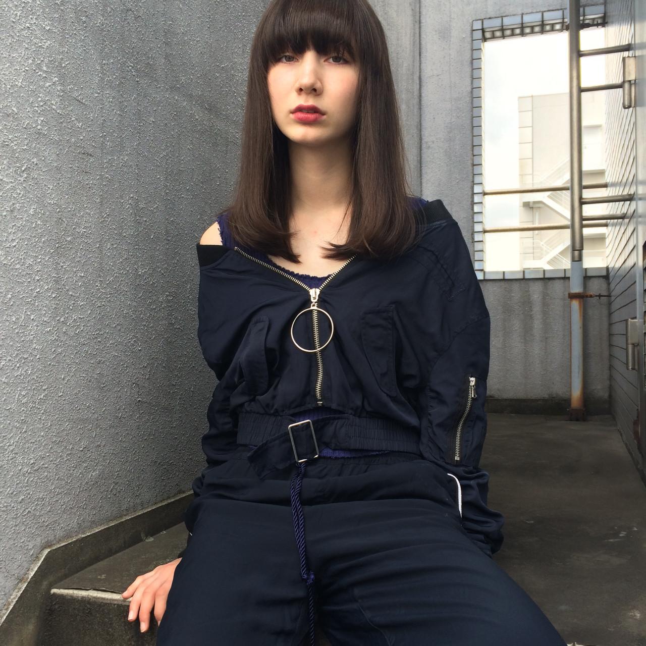 ストレートセミロング♪スッキリフェイスをアピール YUKINA / HOMIE TOKYO  HOMIE TOKYO