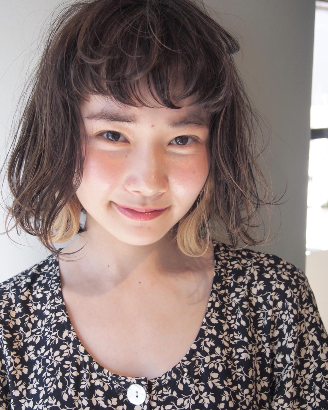 丸顔さん×髪量多い!お悩み解決ボブ UEKI/nanuk