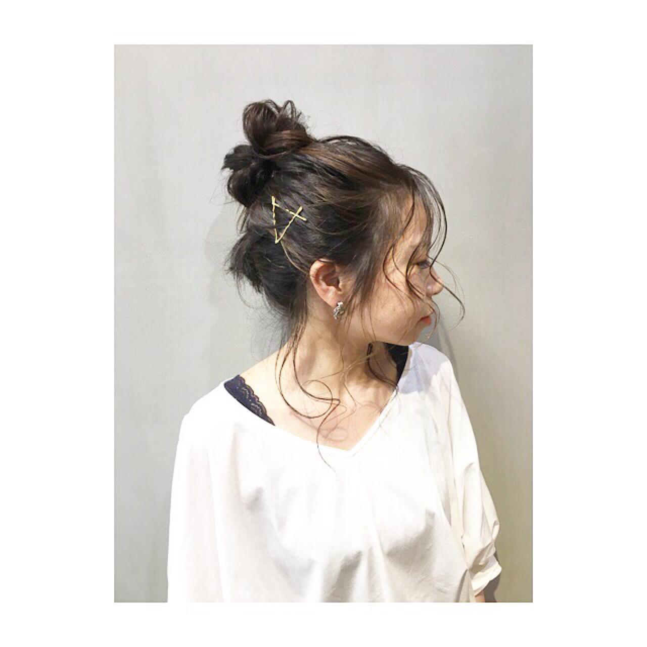 前髪なしお団子ヘアで大人っぽ♡ COM PASS タイチ