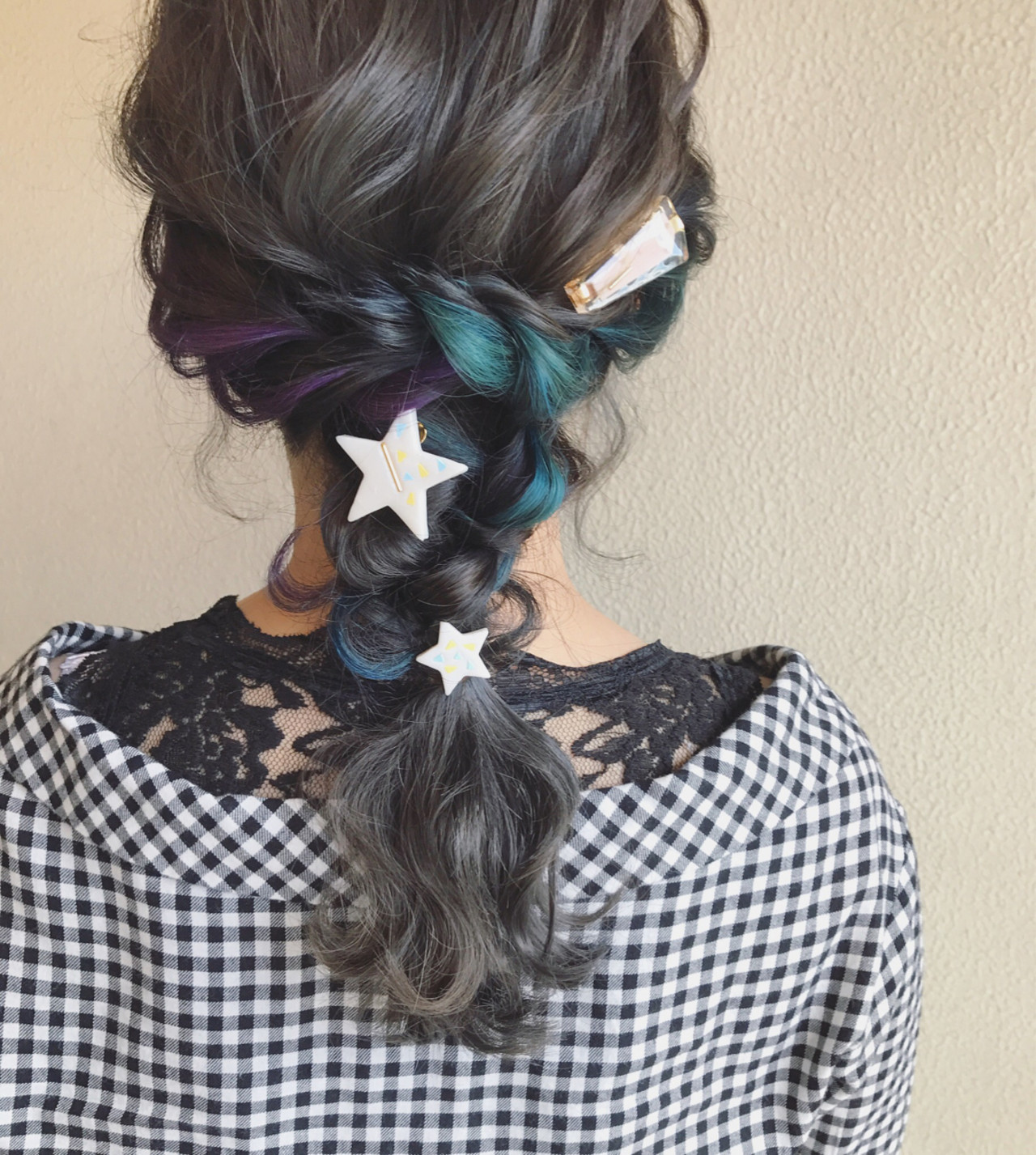 デート ミディアム ヘアアレンジ モード ヘアスタイルや髪型の写真・画像
