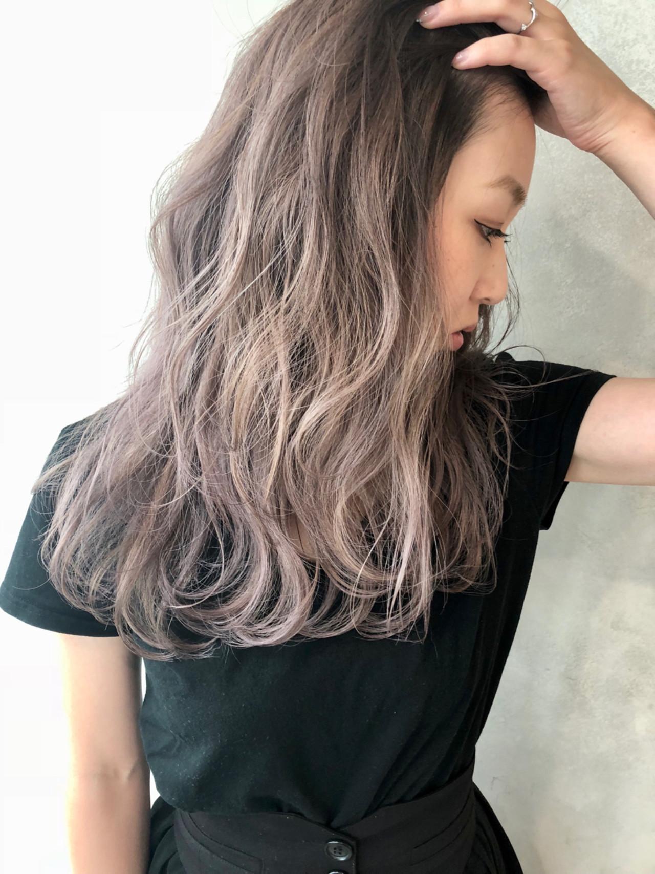 ハイライト 外国人風カラー ヘアアレンジ セミロング ヘアスタイルや髪型の写真・画像