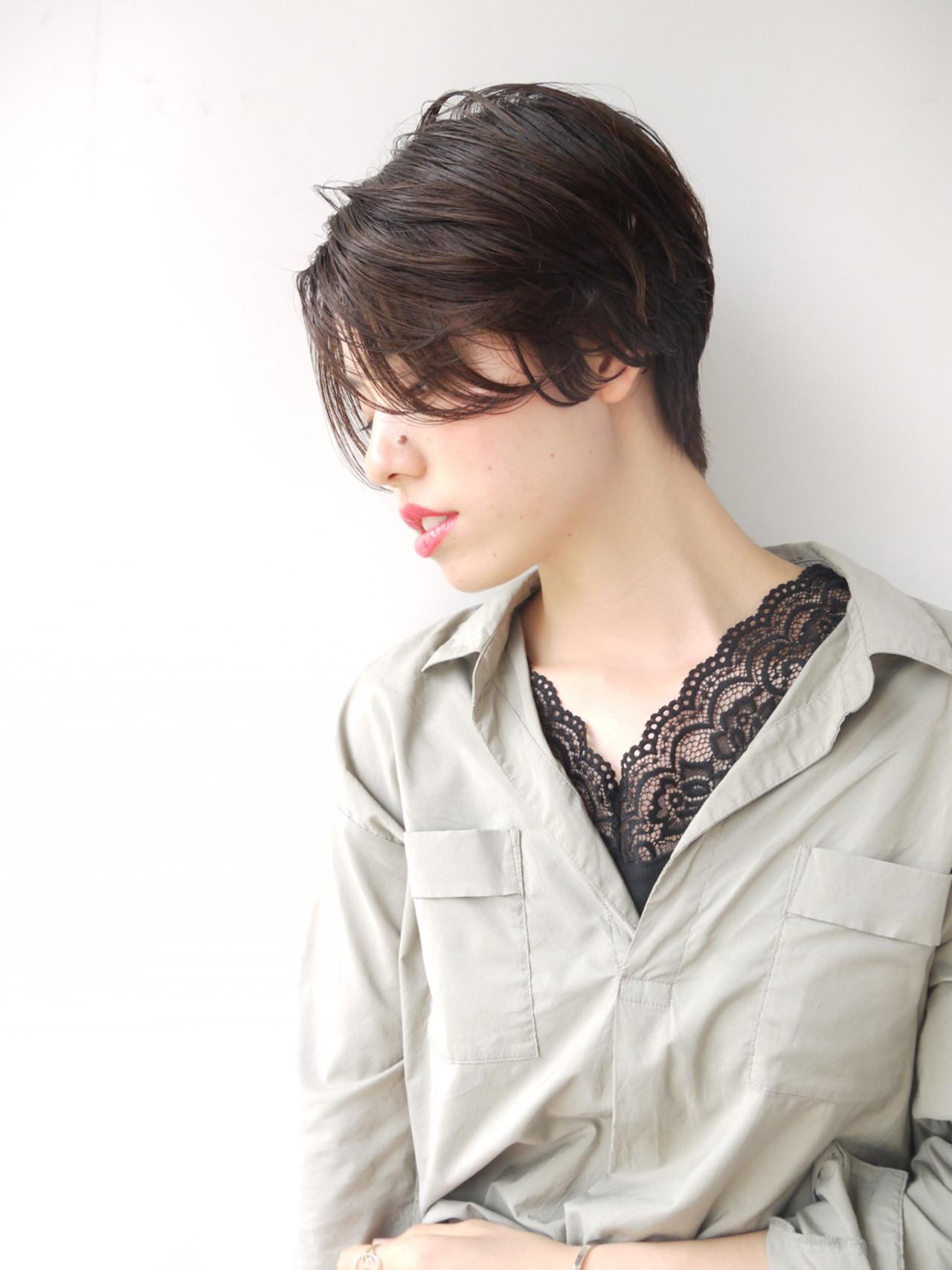 ナチュラル 黒髪 センターパート ボブ ヘアスタイルや髪型の写真・画像