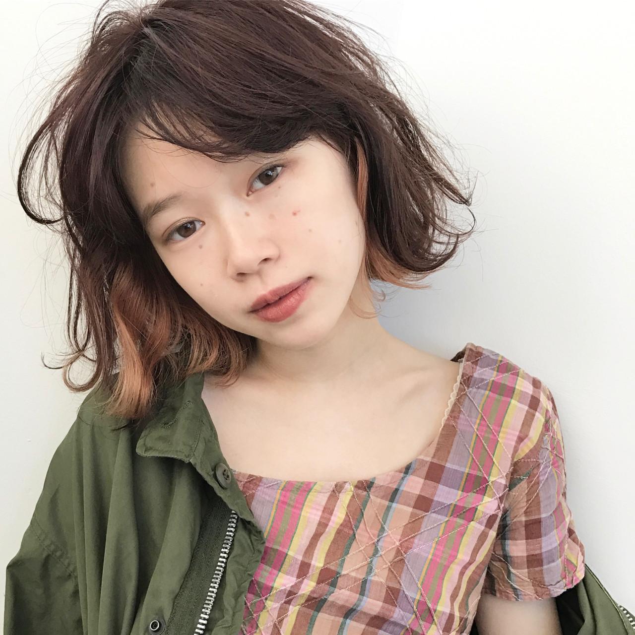 髪量多くても安心♡くせ毛風ショートボブ UEKI/nanuk