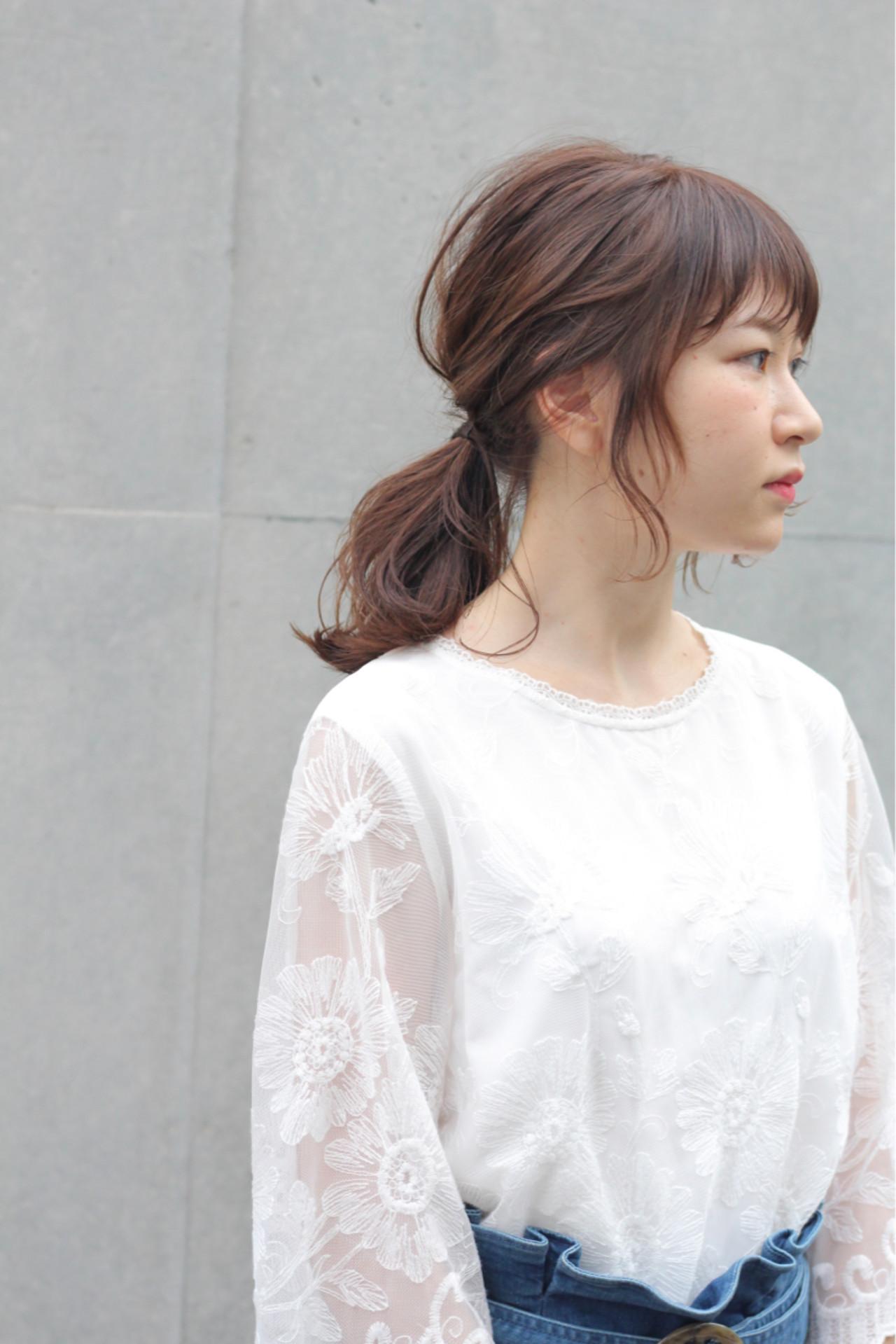 ひとつ結びの無造作アレンジスタイル Wataru Maeda