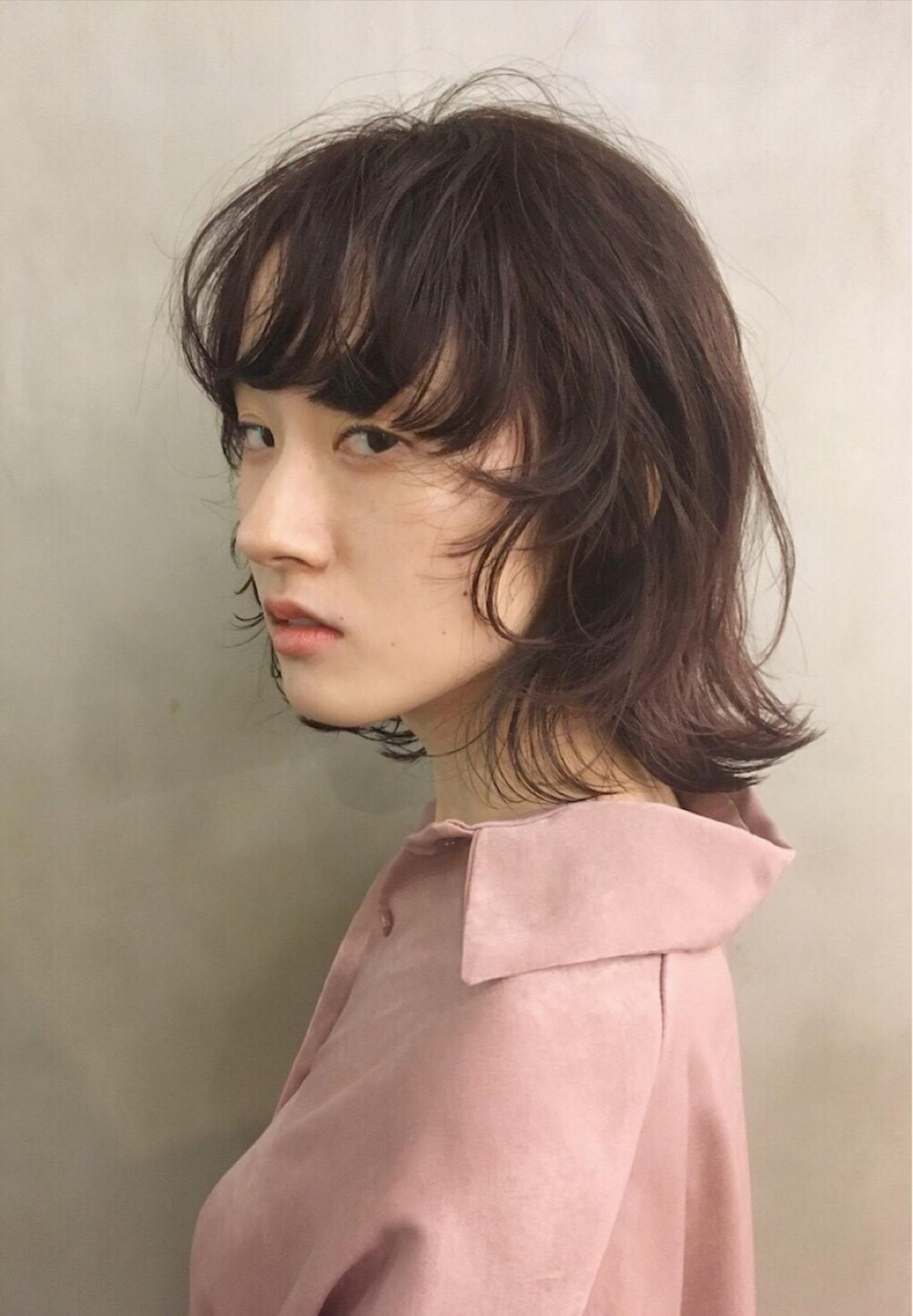 透明感 モード マッシュ ウルフカット ヘアスタイルや髪型の写真・画像