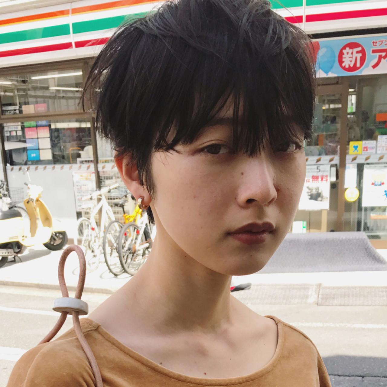 ショート かっこいい マニッシュ ジェンダーレス ヘアスタイルや髪型の写真・画像