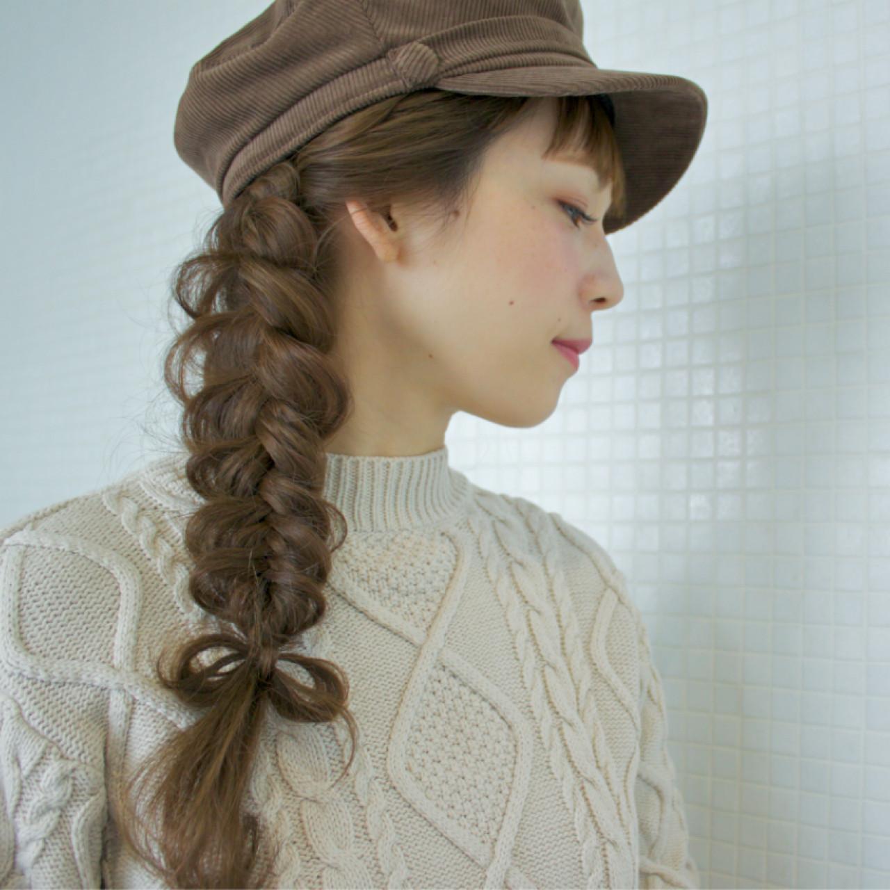 ヘアアレンジ ロング ガーリー 簡単ヘアアレンジ ヘアスタイルや髪型の写真・画像
