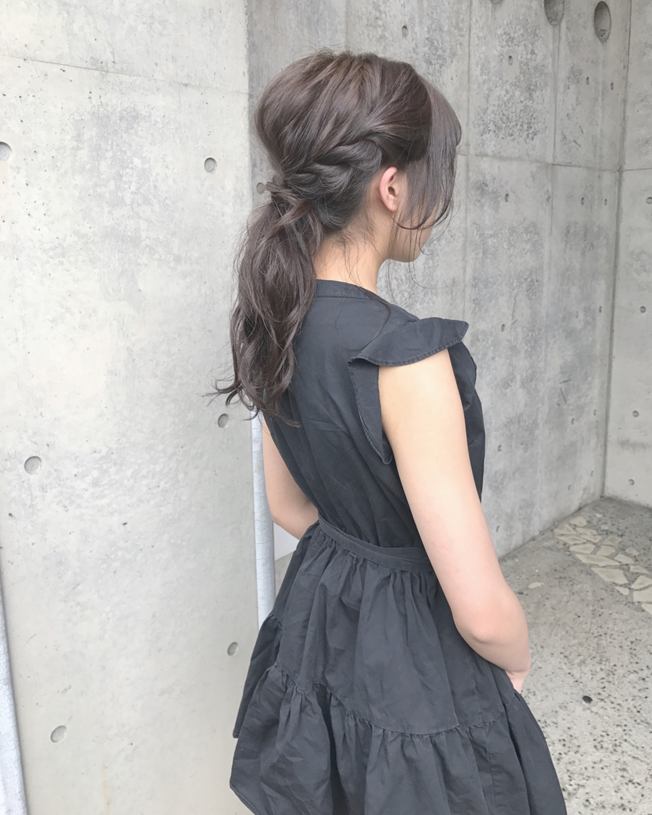 リラックス ポニーテール 女子会 ナチュラル ヘアスタイルや髪型の写真・画像