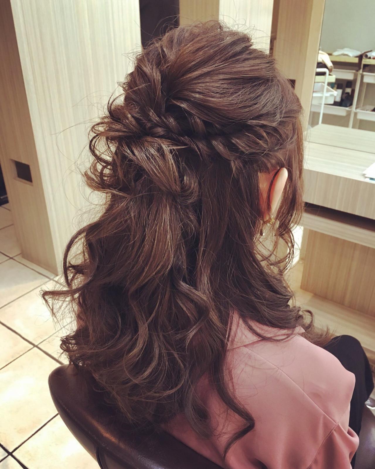 ヘアアレンジ アップスタイル ロング フェミニン ヘアスタイルや髪型の写真・画像