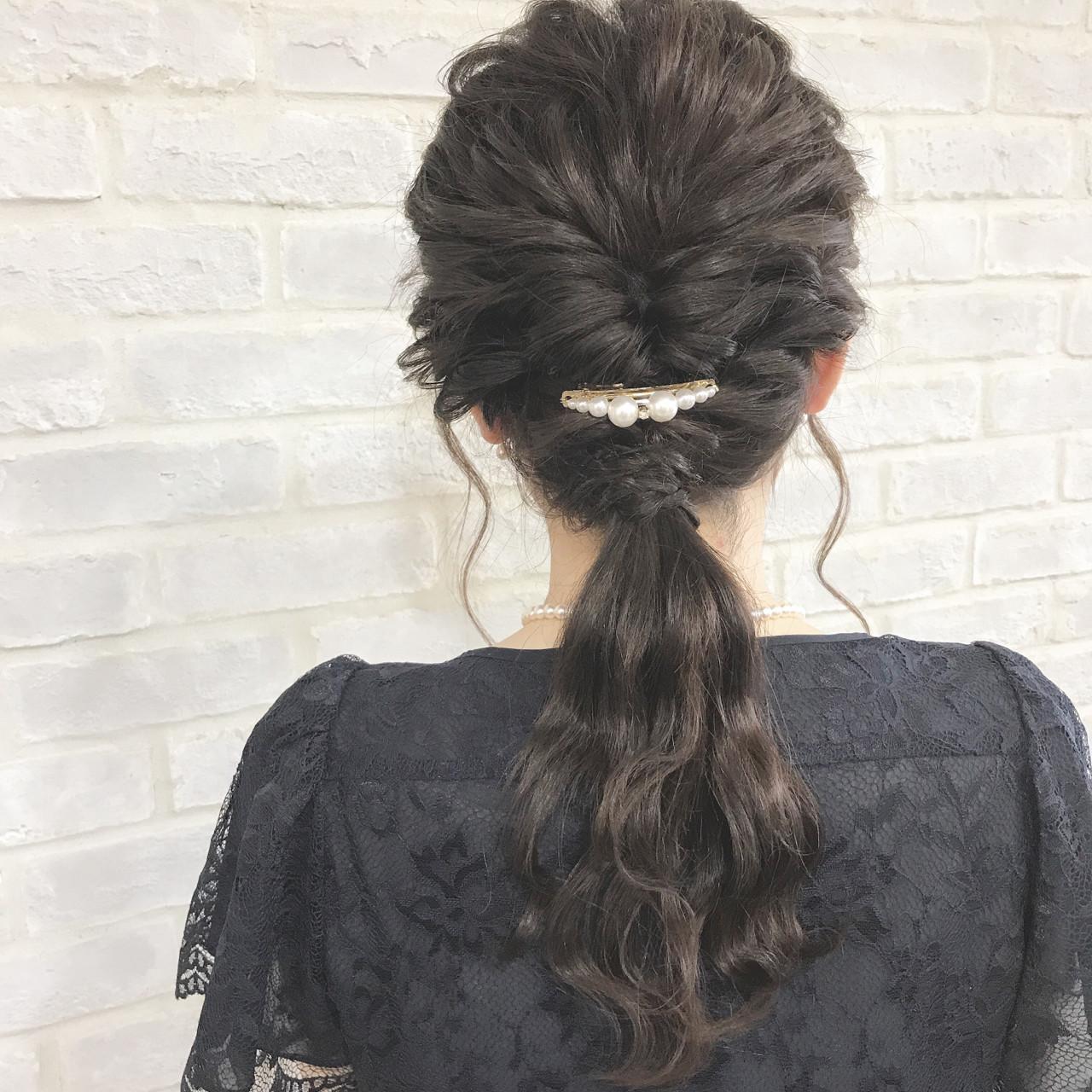 フェミニン アンニュイ セミロング 波ウェーブ ヘアスタイルや髪型の写真・画像