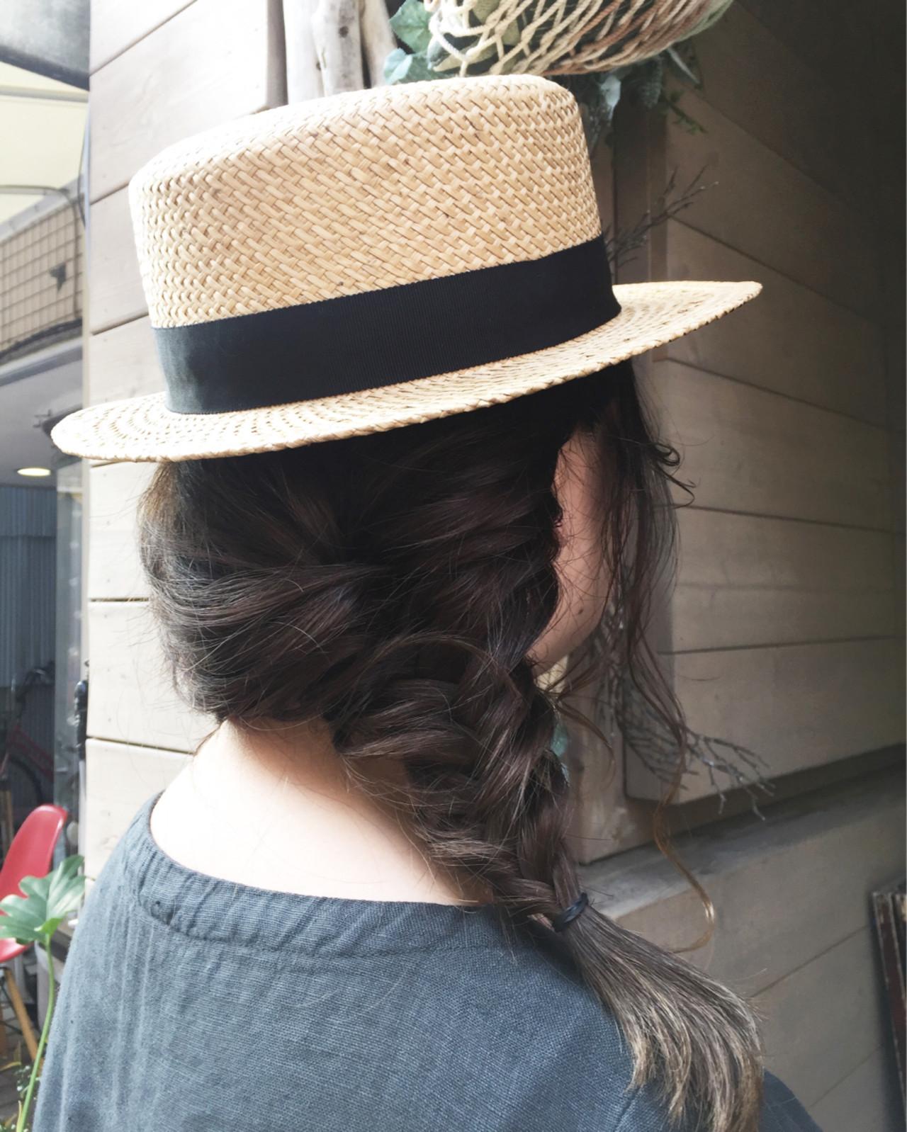 ヘアアレンジ 透明感 セミロング アウトドア ヘアスタイルや髪型の写真・画像
