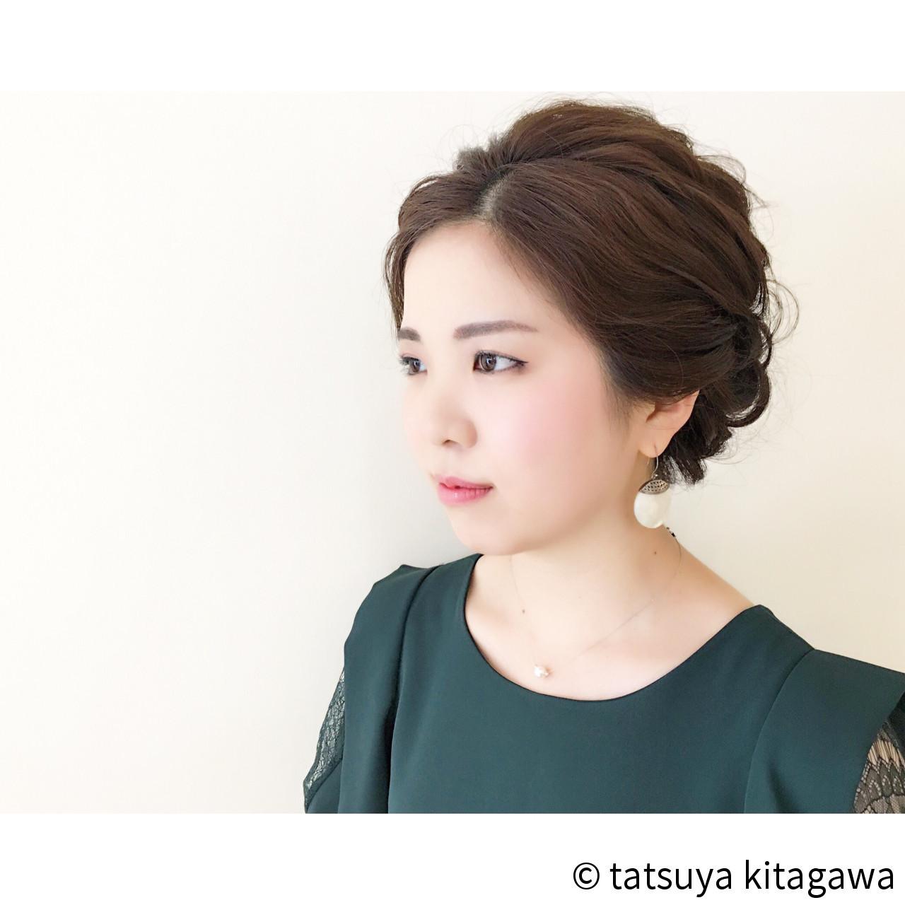 ドレスに似合う♡前髪なしの上品アップスタイル tatsuya kitagawa