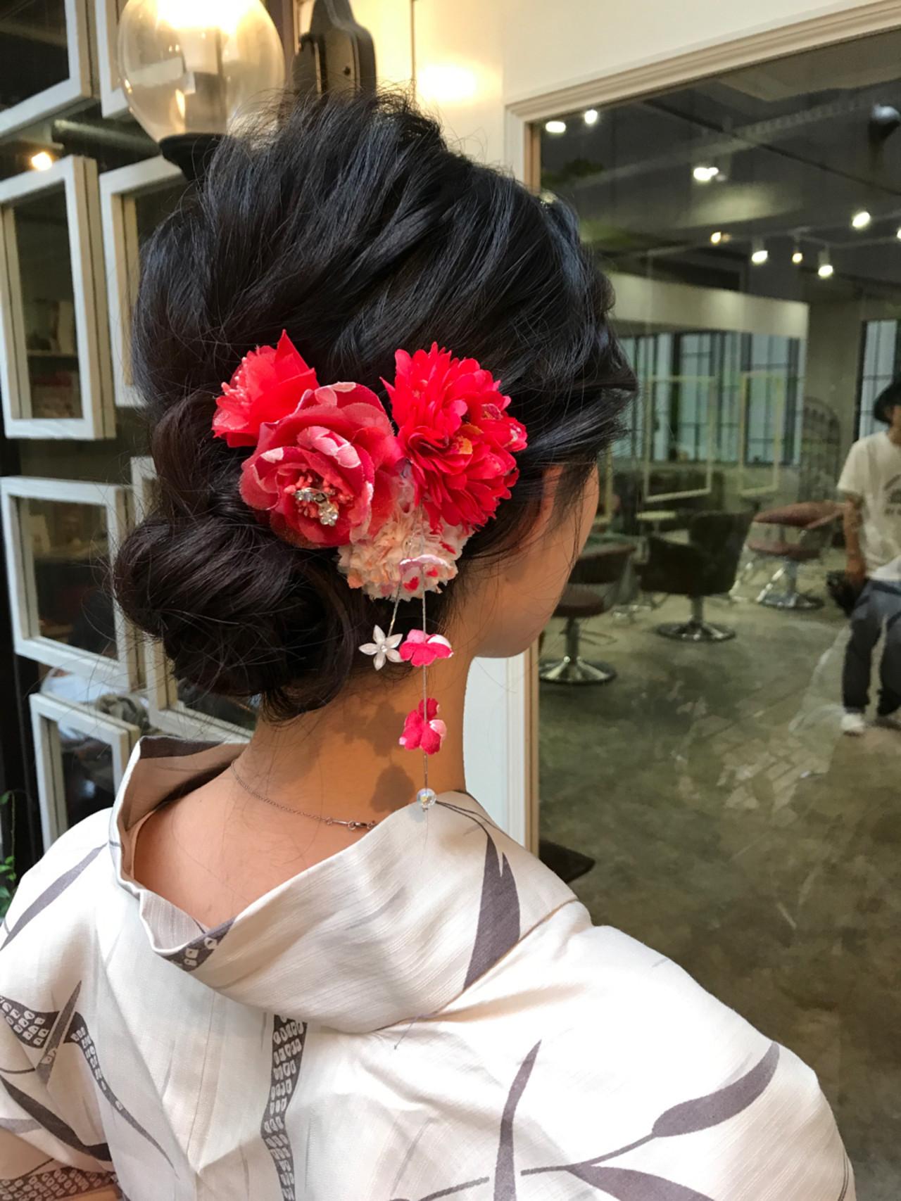和装 ヘアアレンジ 和服 上品 ヘアスタイルや髪型の写真・画像