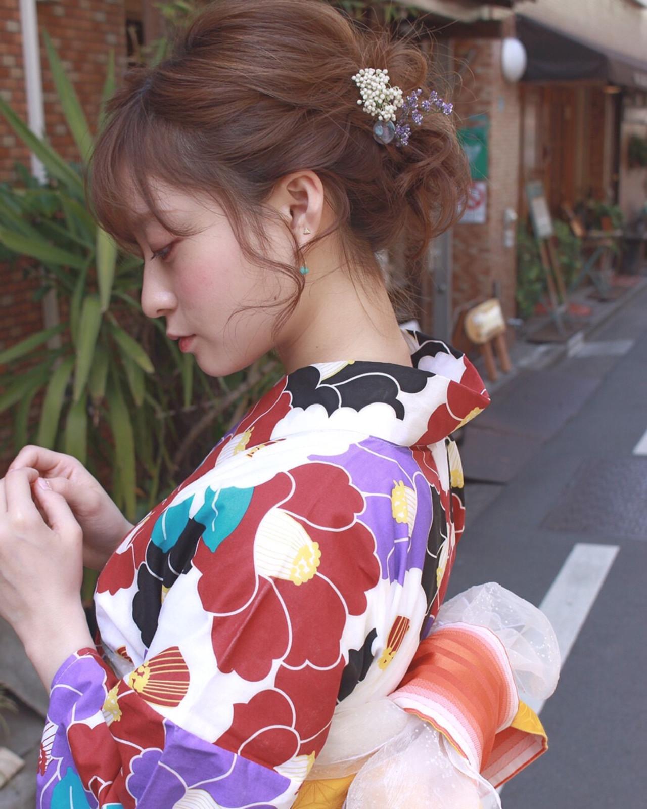 ヘアアレンジ 夏 ナチュラル ラフ ヘアスタイルや髪型の写真・画像