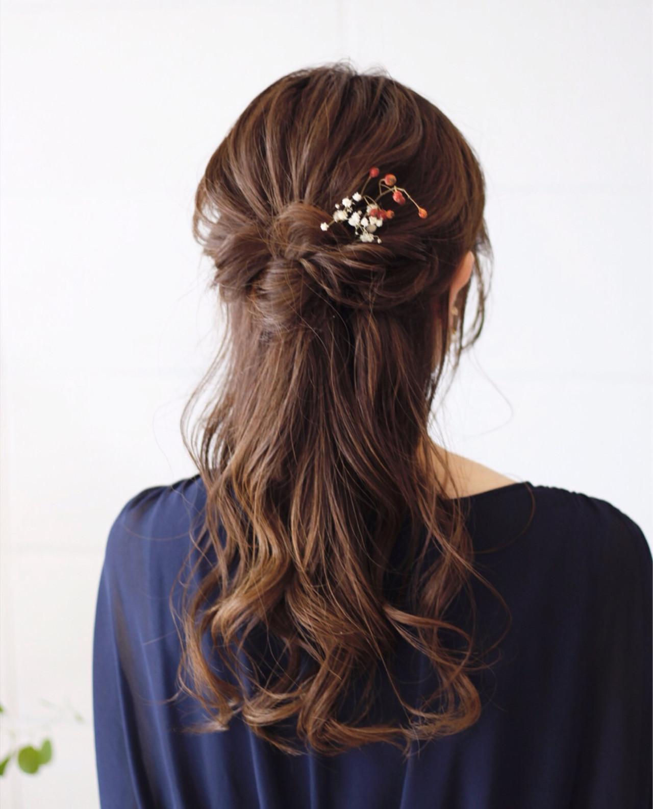 上品 ヘアアレンジ エレガント アッシュグレージュ ヘアスタイルや髪型の写真・画像