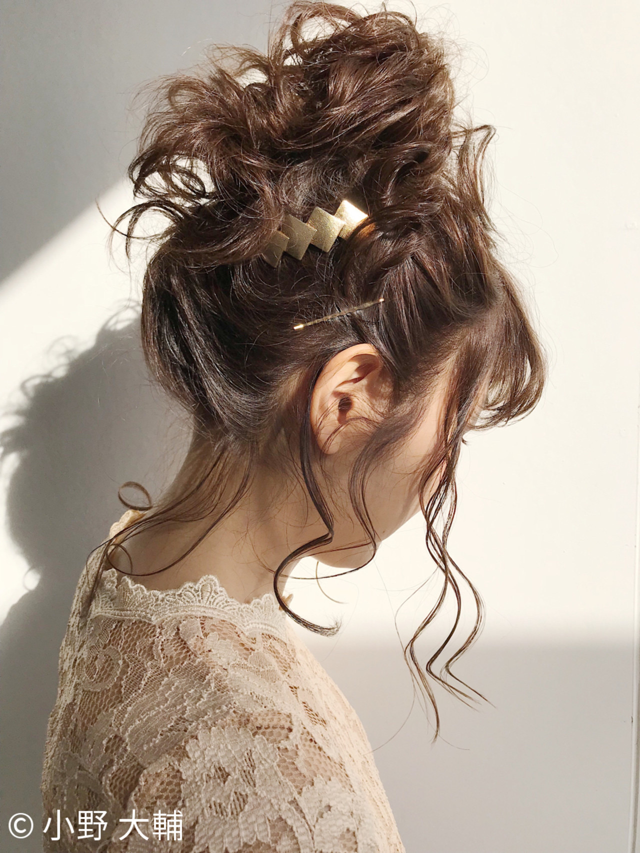 お団子 バレンタイン ミディアム ナチュラル ヘアスタイルや髪型の写真・画像
