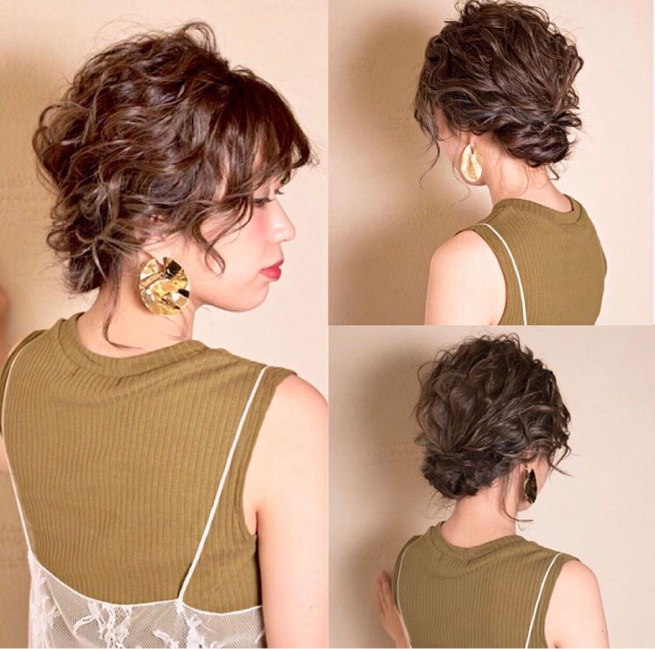 上品 編み込み エレガント ハイライト ヘアスタイルや髪型の写真・画像