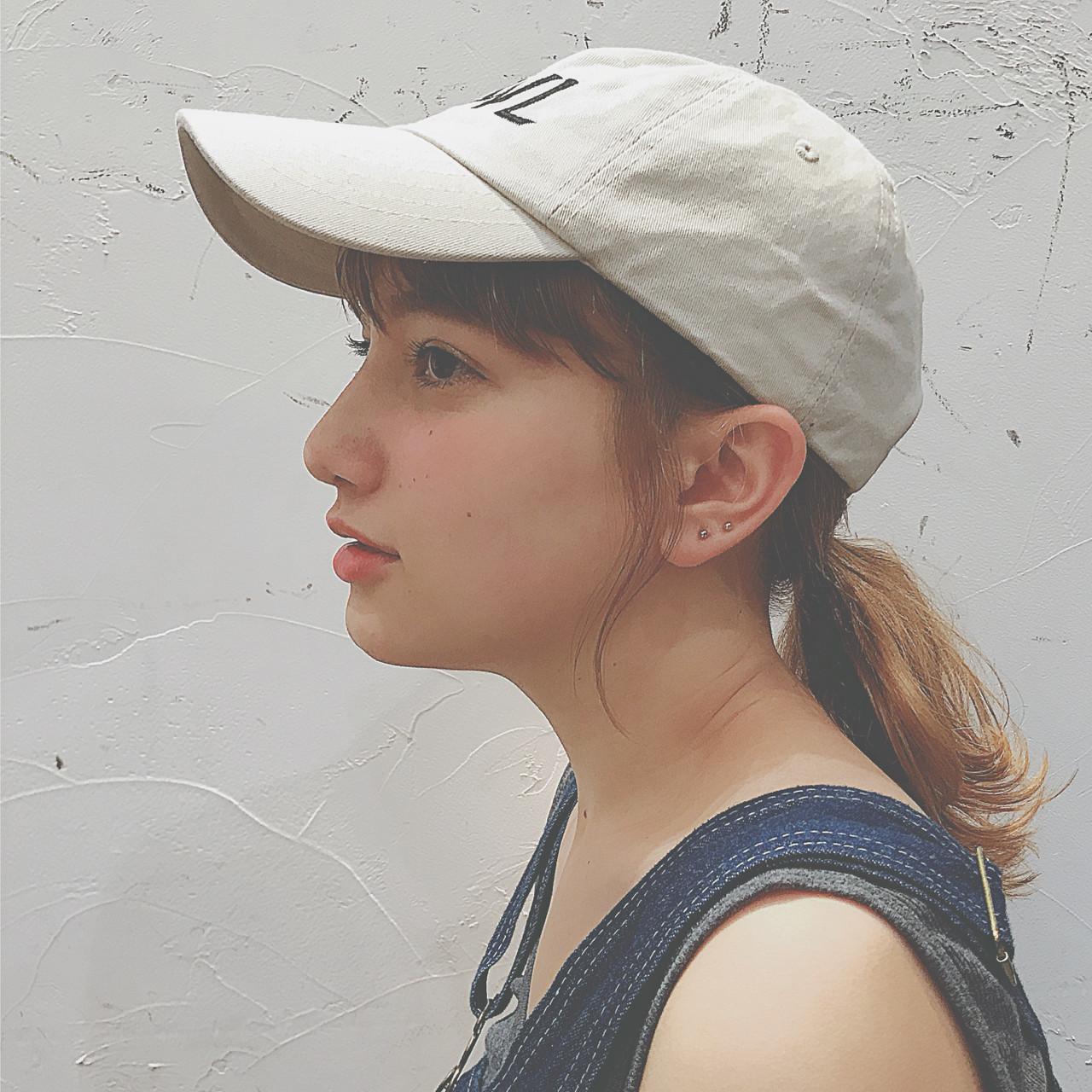 ラフアレンジの鉄板!キャップ×ローポニー 中園 香峰