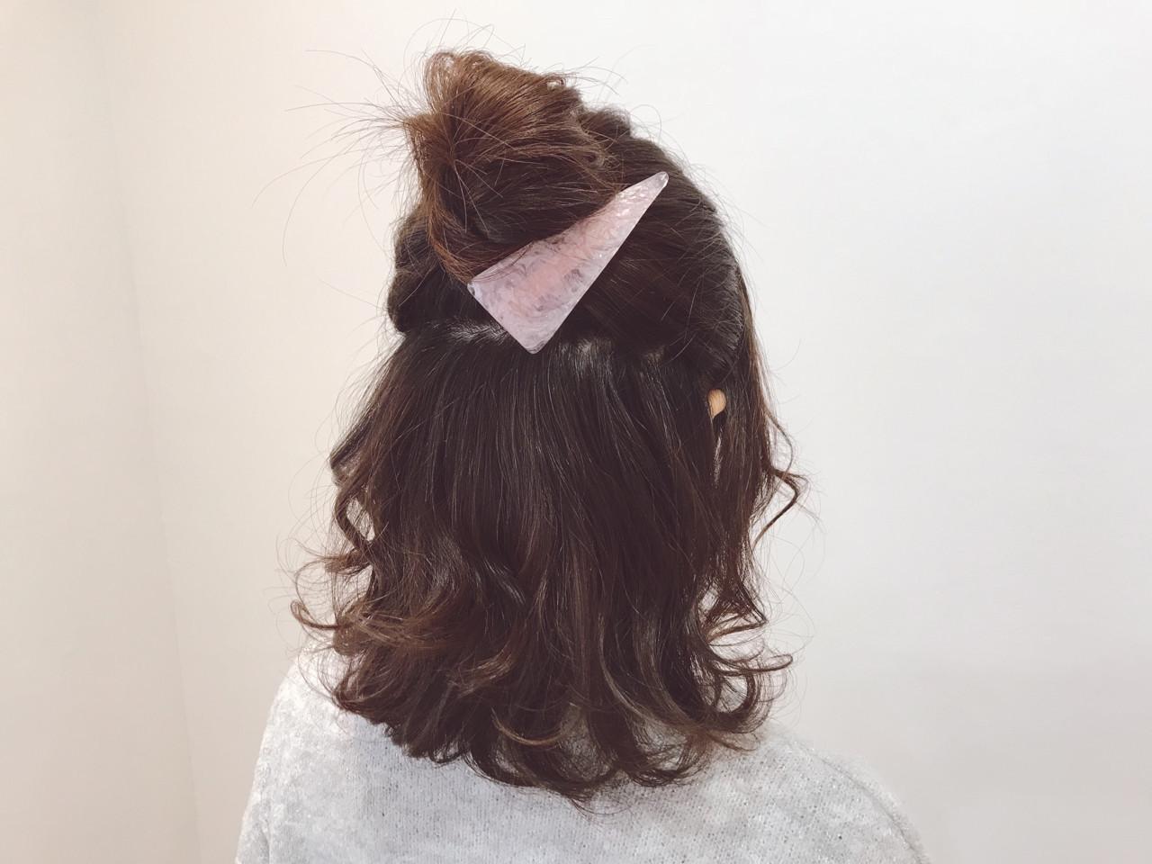 簡単ヘアアレンジ 愛され オフィス ヘアアレンジ ヘアスタイルや髪型の写真・画像