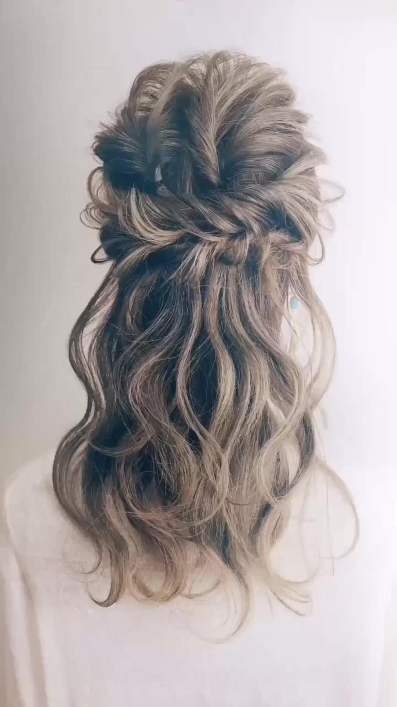 エレガント ヘアアレンジ 花嫁 結婚式 ヘアスタイルや髪型の写真・画像
