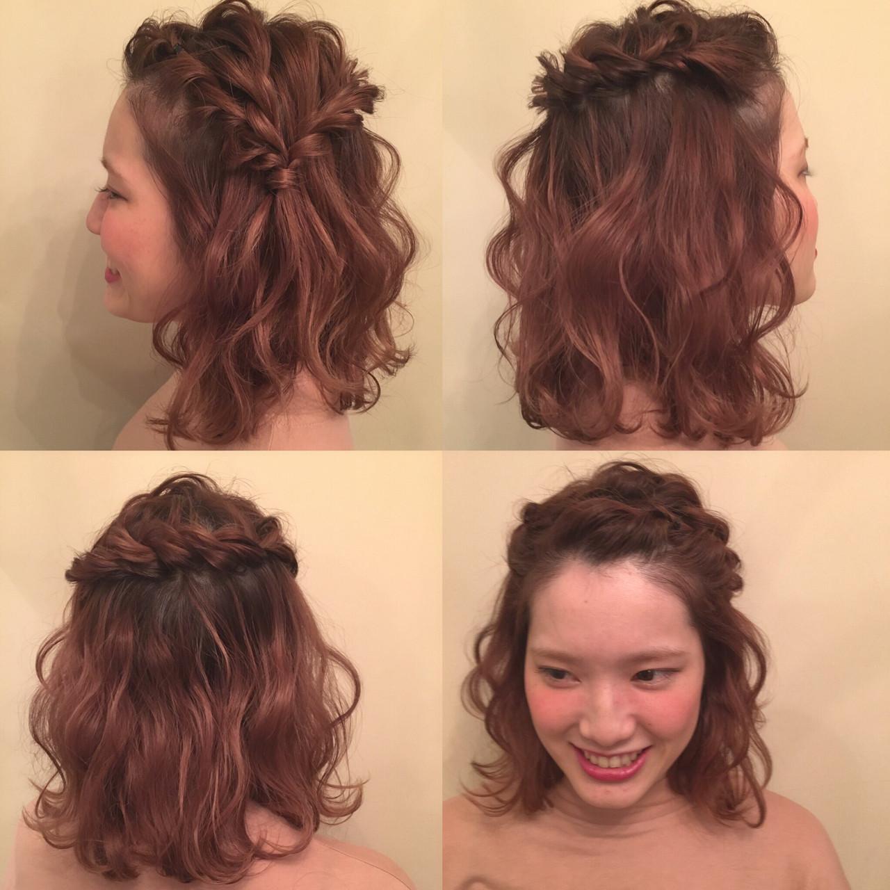 ヘアアレンジ ボブ ヘアスタイルや髪型の写真・画像