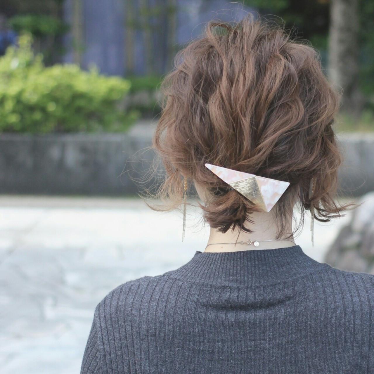 アッシュ ゆるふわ 外国人風 ショート ヘアスタイルや髪型の写真・画像