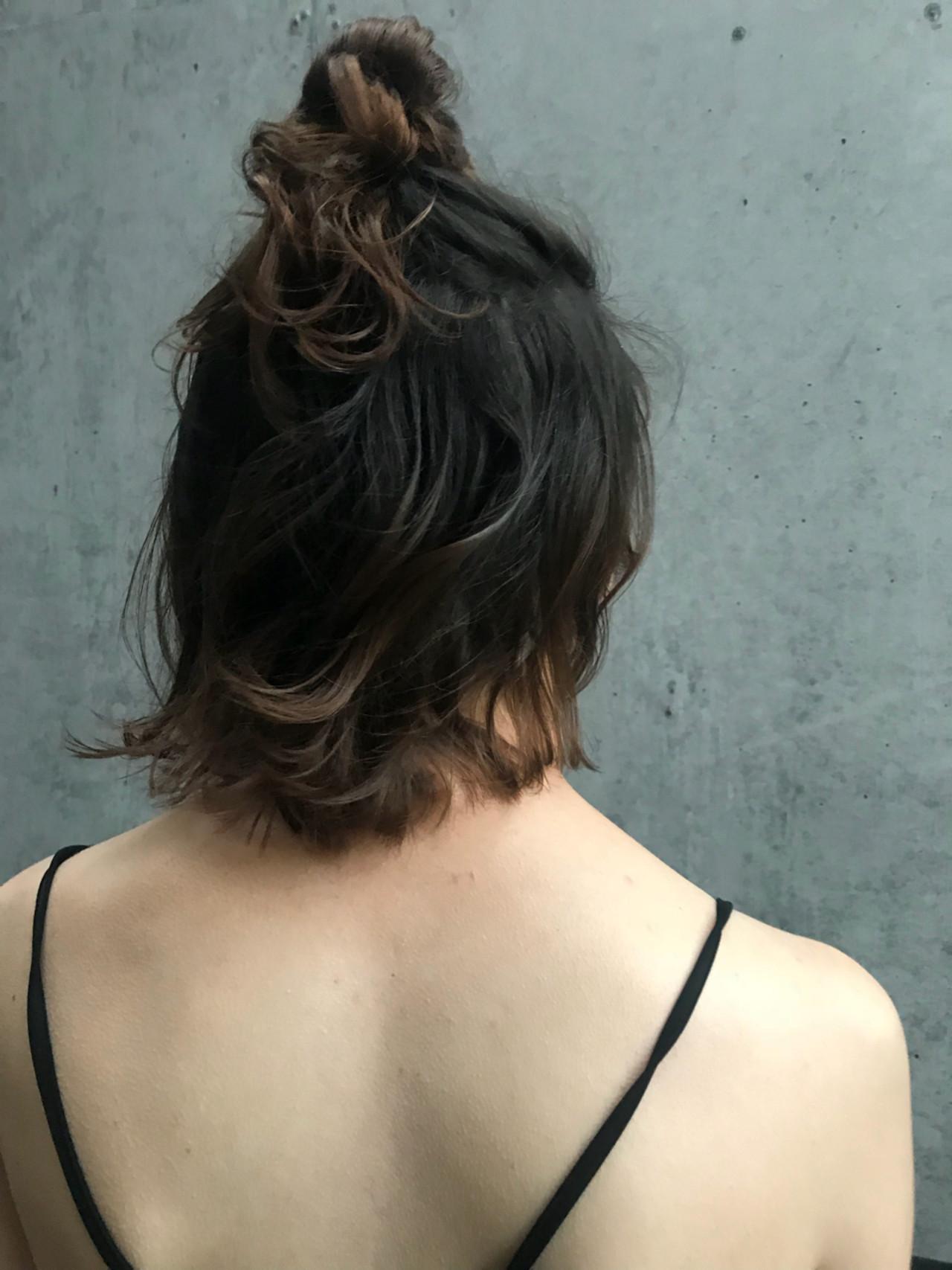 お団子 ガーリー 簡単ヘアアレンジ ヘアアレンジ ヘアスタイルや髪型の写真・画像