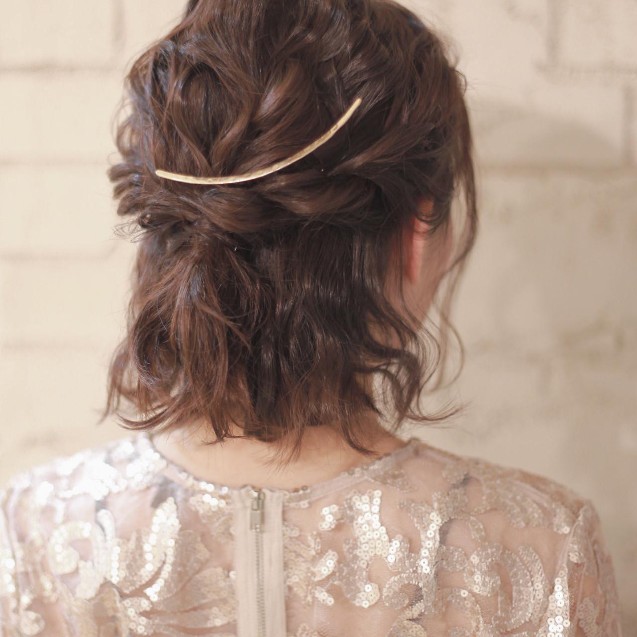 ショート 成人式 結婚式 簡単ヘアアレンジ ヘアスタイルや髪型の写真・画像