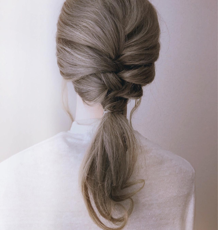 ヘアアレンジ ロング フェミニン 花嫁 ヘアスタイルや髪型の写真・画像