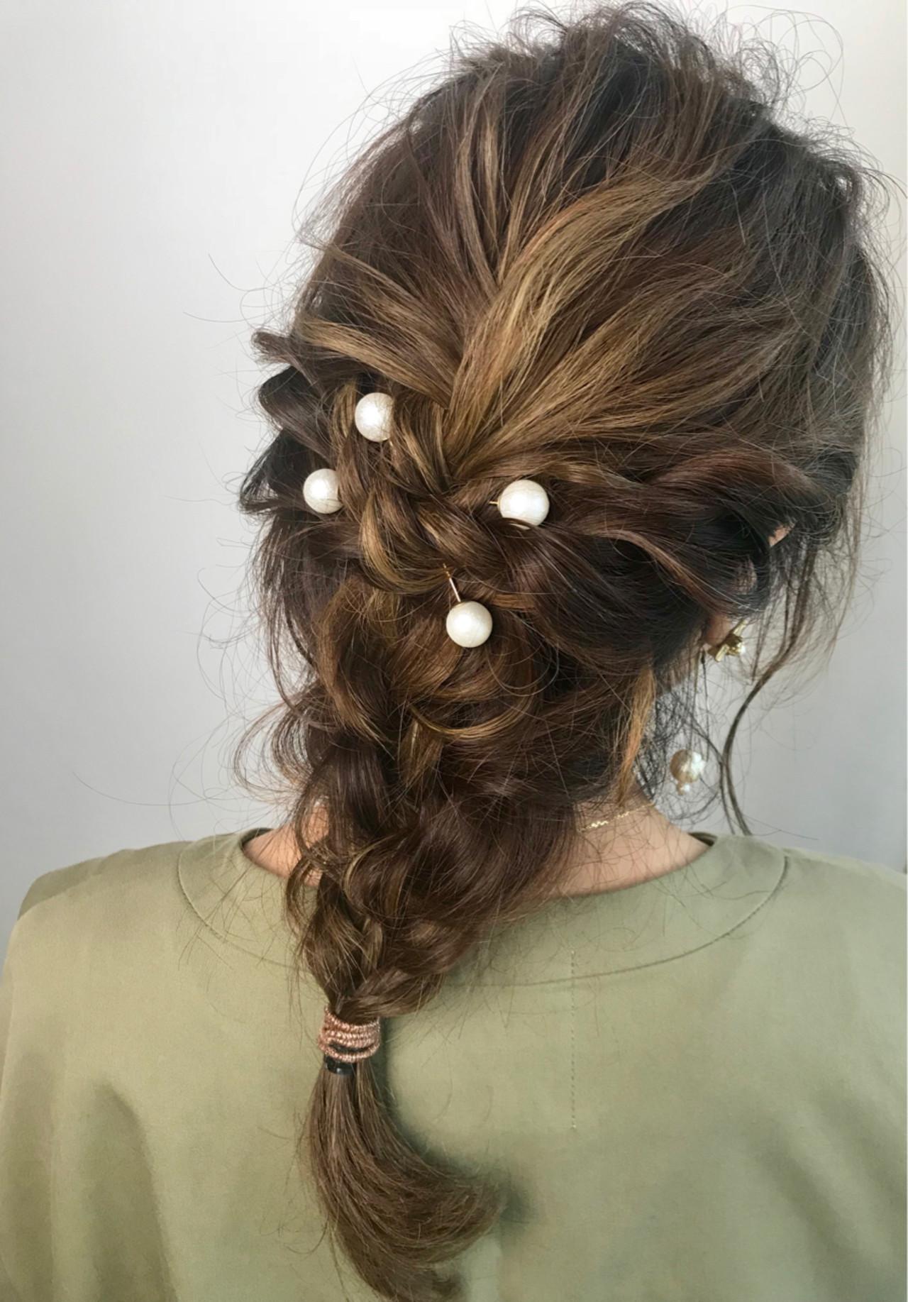 三つ編みを組み合わせて作る個性派編みおろし yukie_horiba | Organic&hair LAU LEA