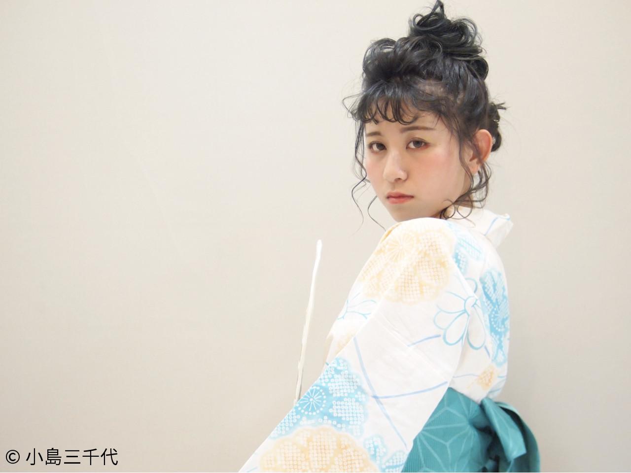 ミディアム 夏 デート ヘアアレンジ ヘアスタイルや髪型の写真・画像