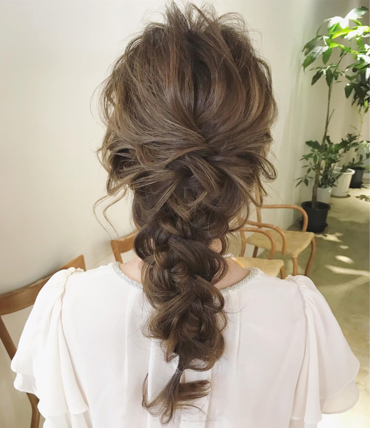 結婚式 ヘアアレンジ ロング エレガント ヘアスタイルや髪型の写真・画像