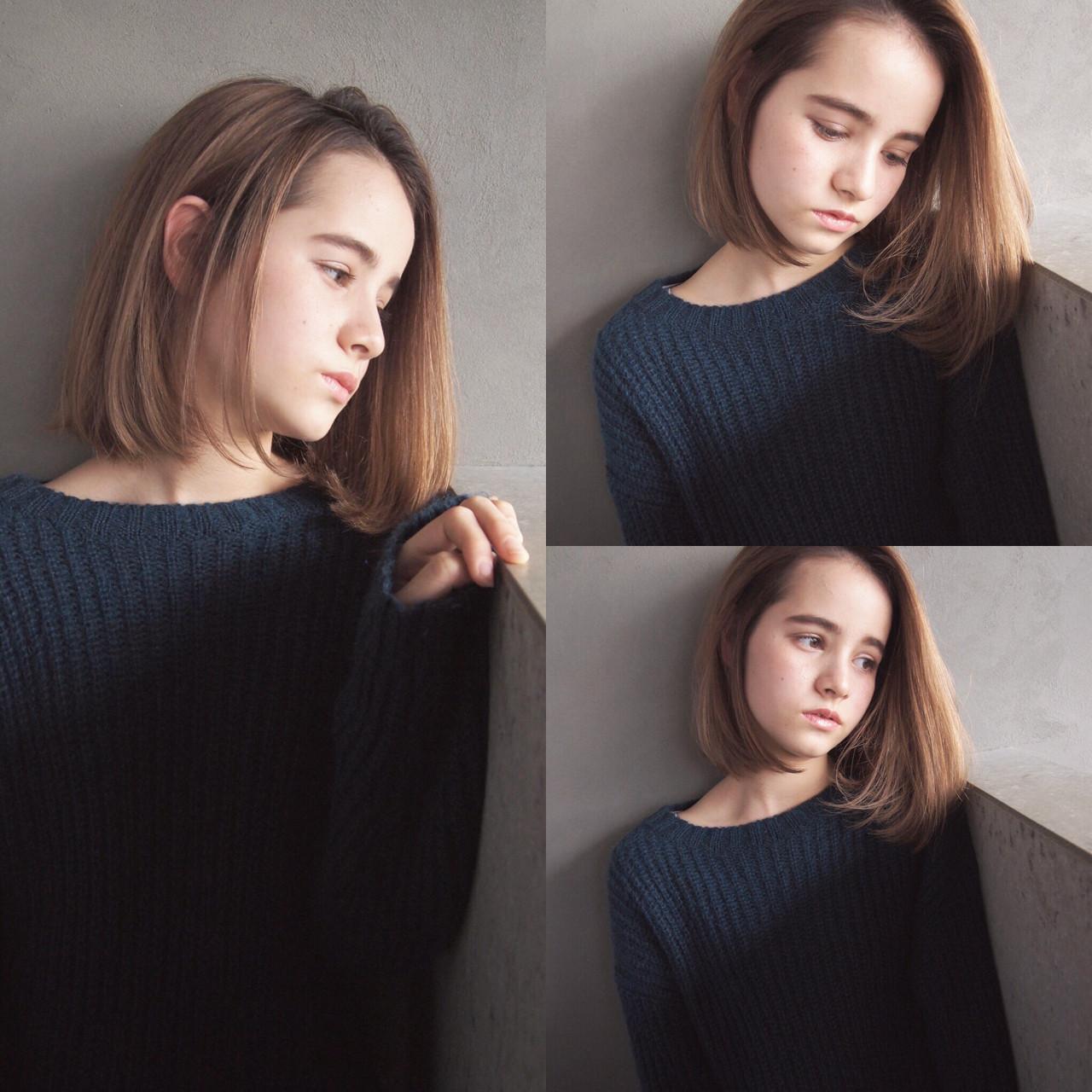 黒髪モードが印象的!水原希子さん風ショートボブ UEKI/nanuk