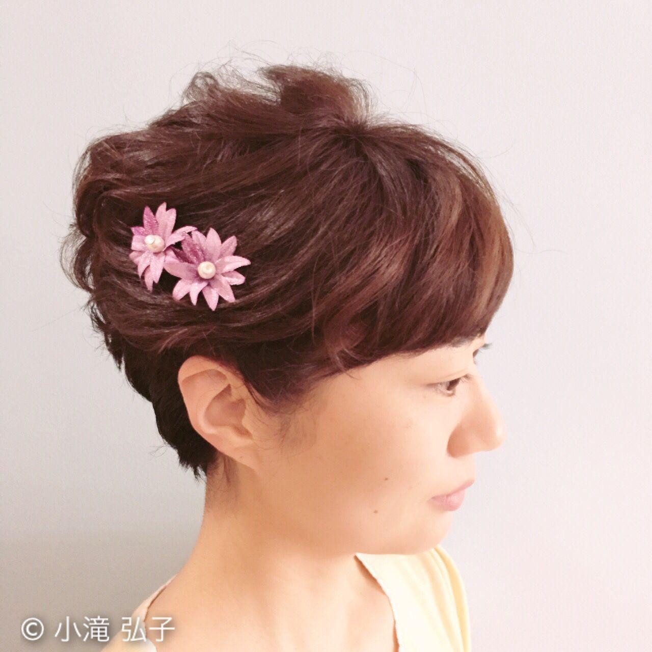 フェミニン ショート コンサバ ヘアスタイルや髪型の写真・画像