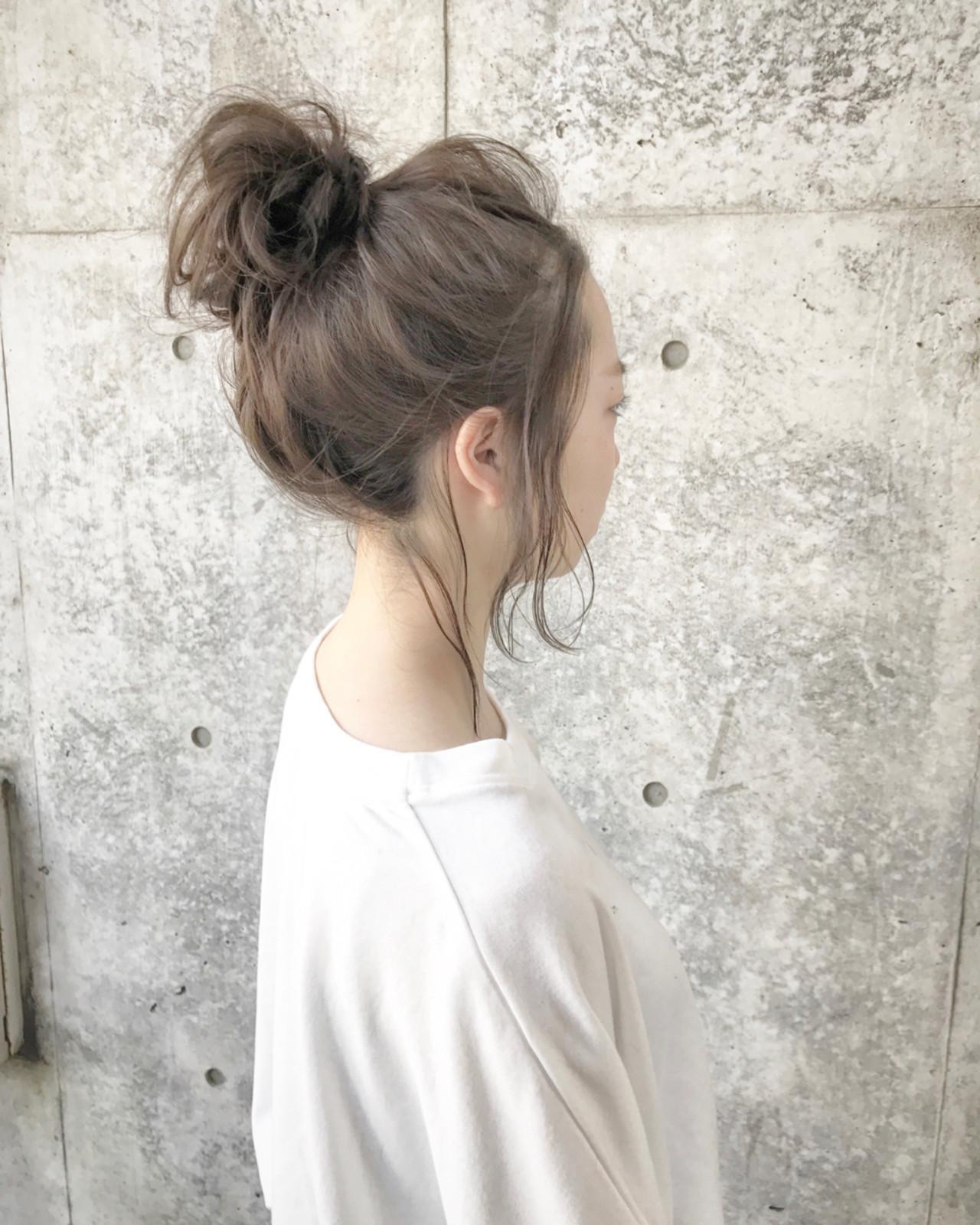 ナチュラル こなれ感 透明感 メッシーバン ヘアスタイルや髪型の写真・画像