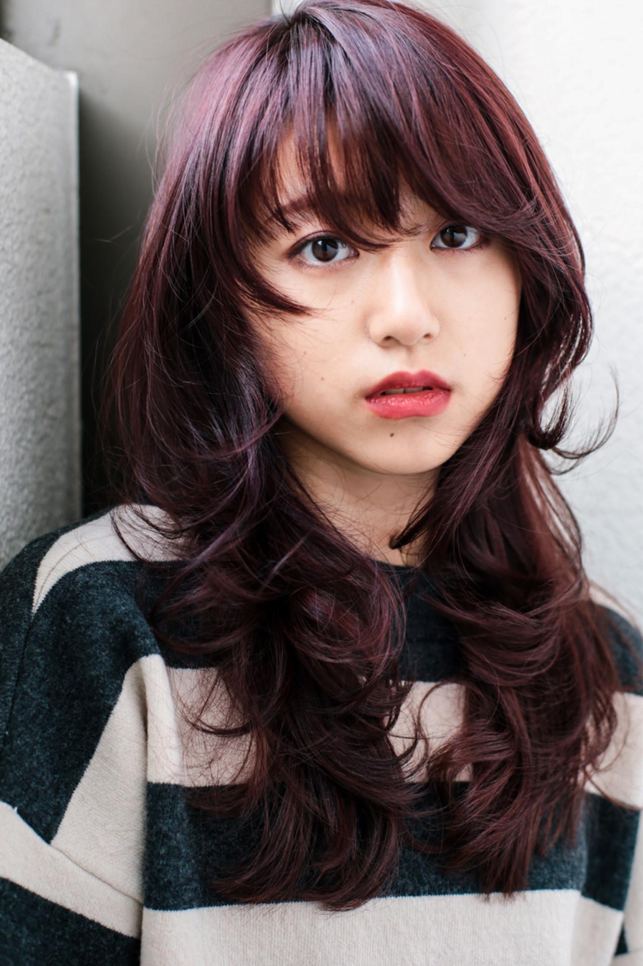 ウルフカット 大人女子 小顔 ロング ヘアスタイルや髪型の写真・画像