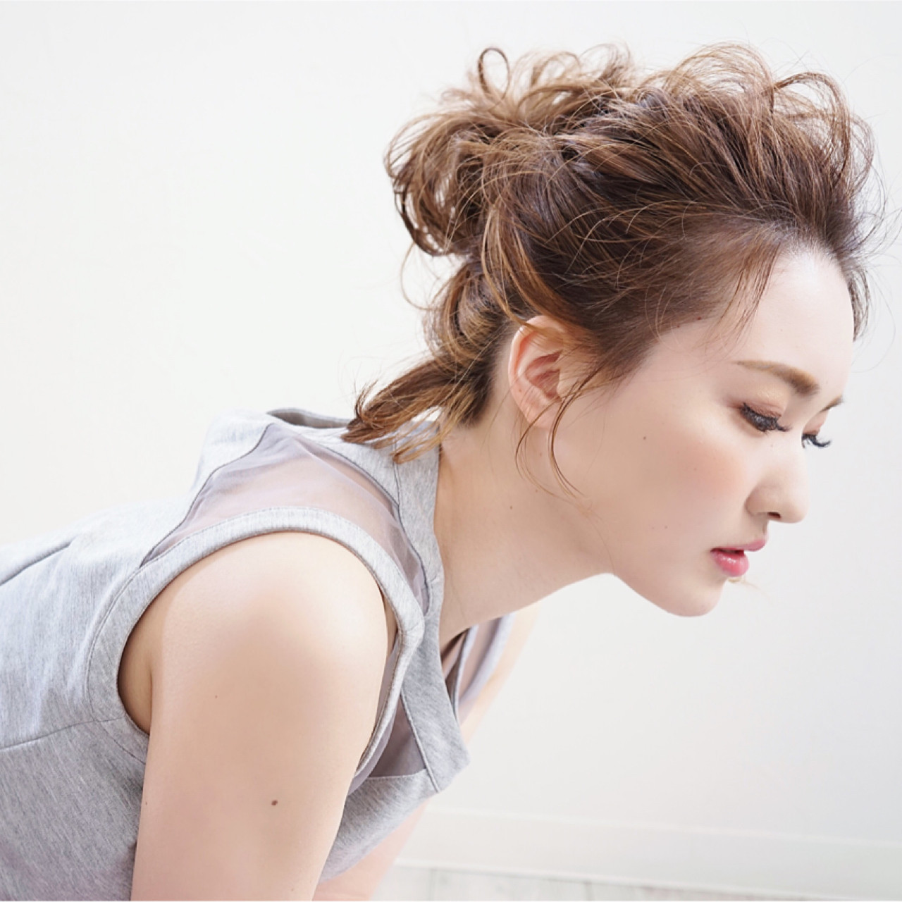 ポニーテール ハーフアップ ヘアアレンジ フェミニン ヘアスタイルや髪型の写真・画像