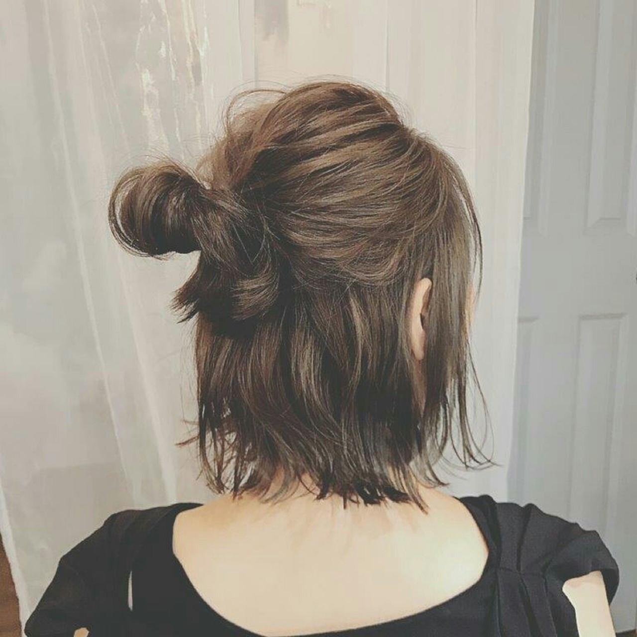 ボブ 冬 秋 フェミニン ヘアスタイルや髪型の写真・画像