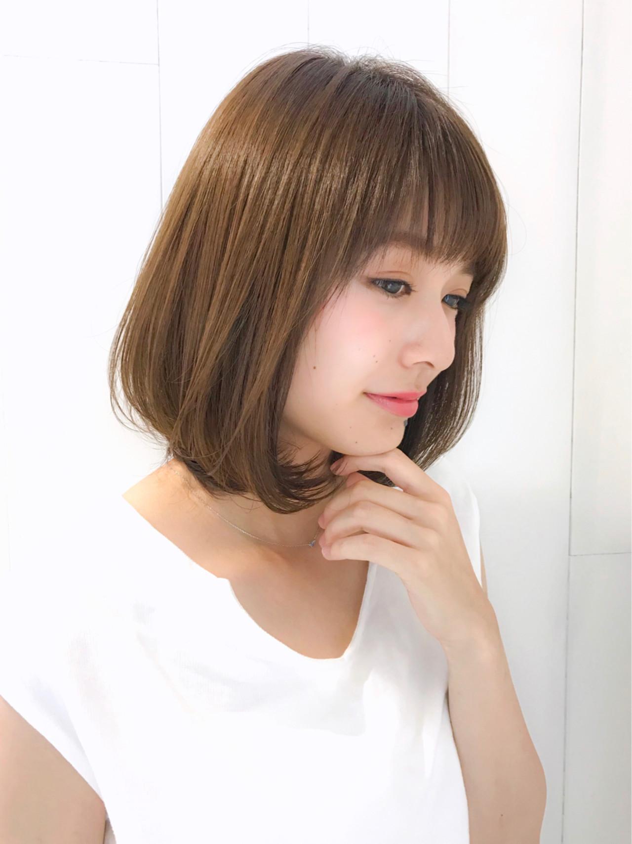ワンカール グレージュ 大人かわいい フェミニン ヘアスタイルや髪型の写真・画像
