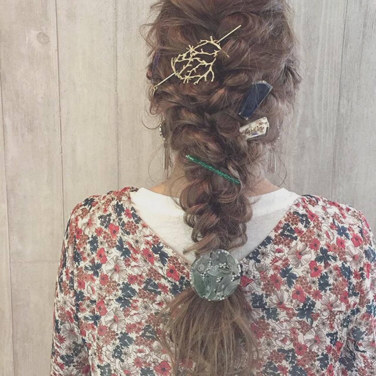まとめ髪もヘアアクセでおしゃれに見せて♡ 宮田 恵里香