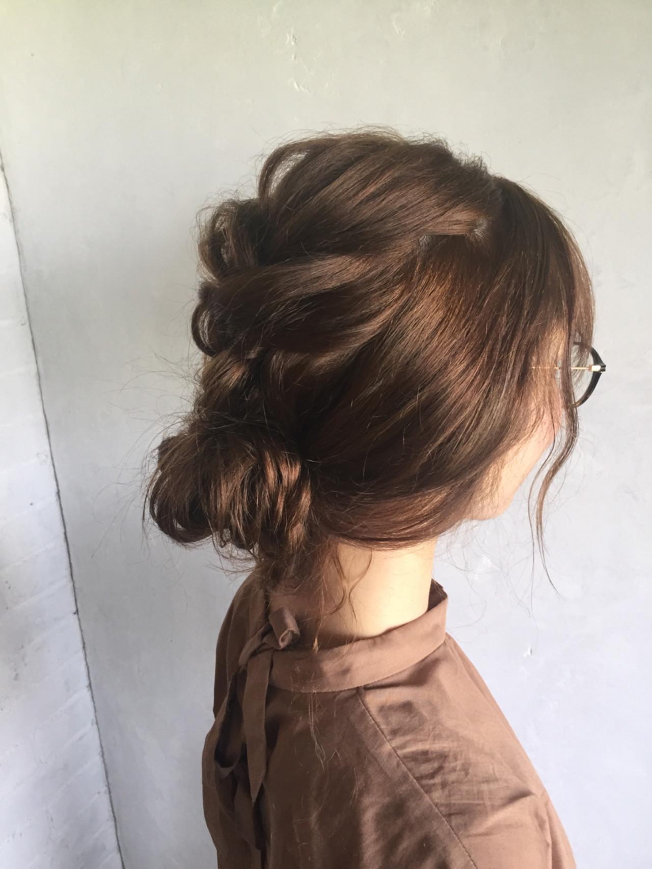 ヘアアレンジ 夏 ナチュラル お祭り ヘアスタイルや髪型の写真・画像