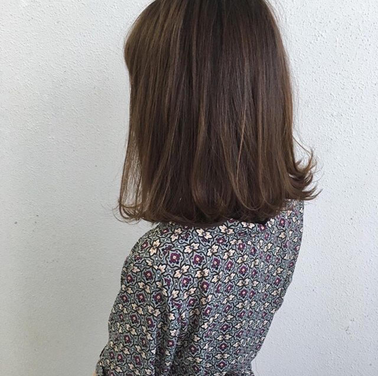 ストレート×外ハネミディアムでナチュラルに 木下裕貴 | totti hair design