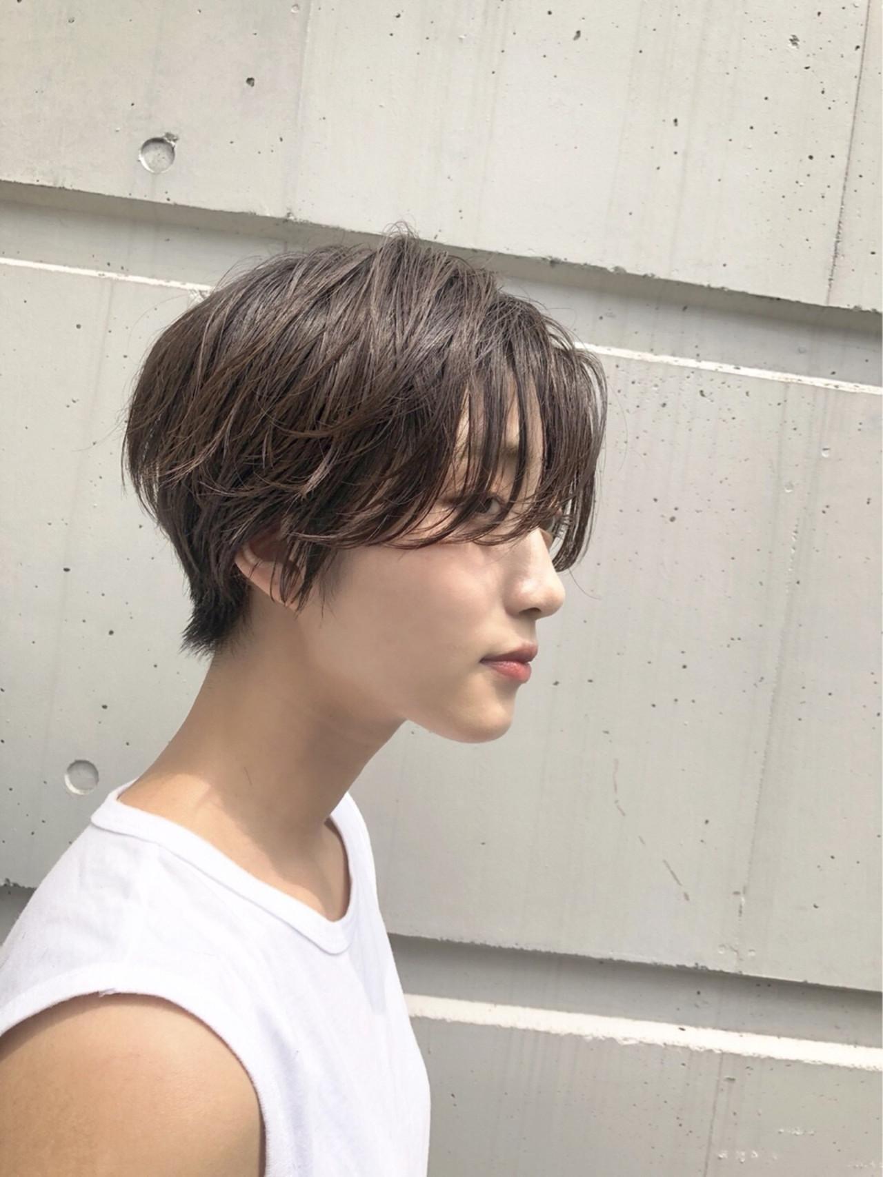透明感 無造作 ショート ナチュラル ヘアスタイルや髪型の写真・画像